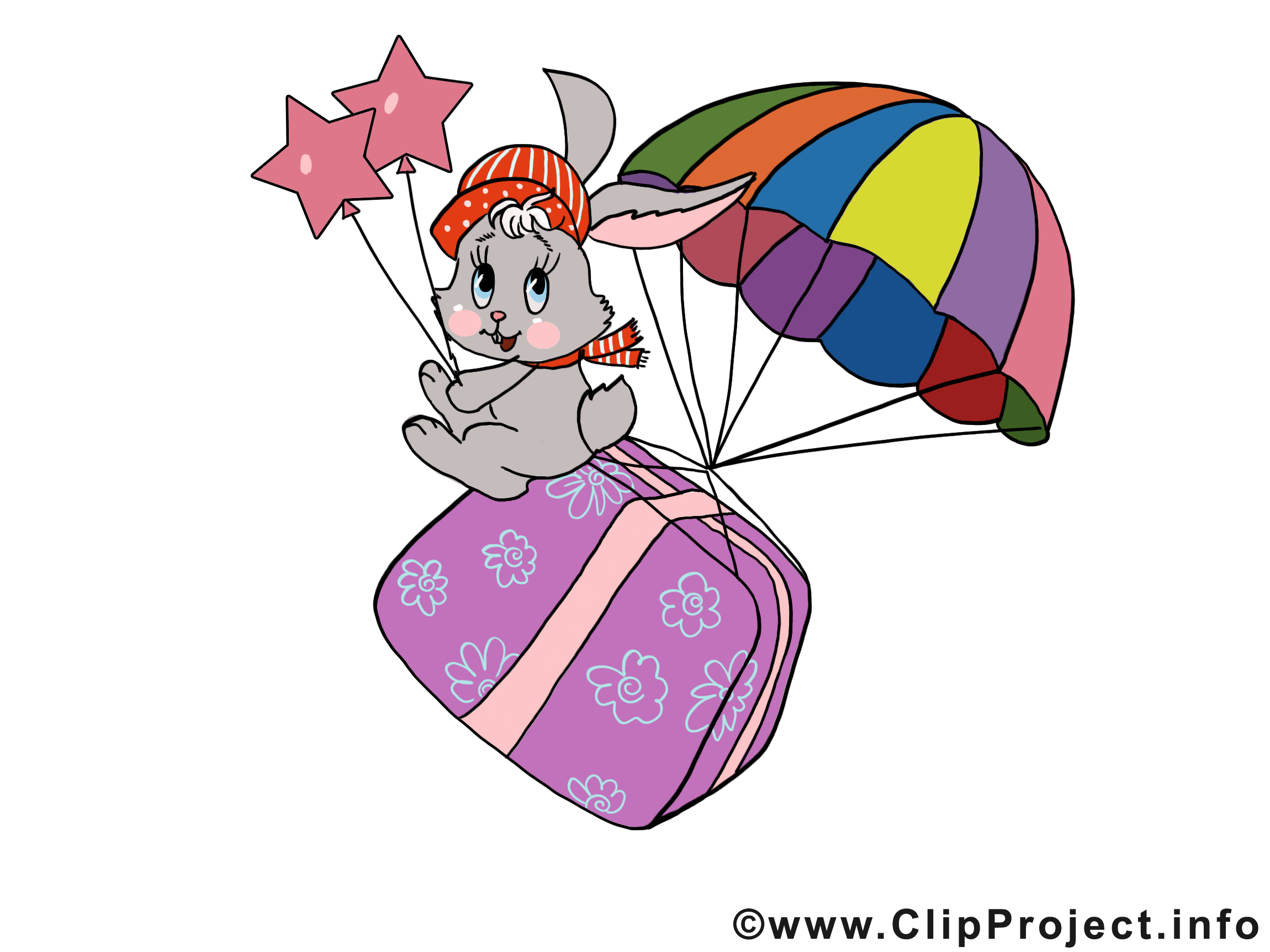 Cadeau illustration gratuite – Carnaval clipart