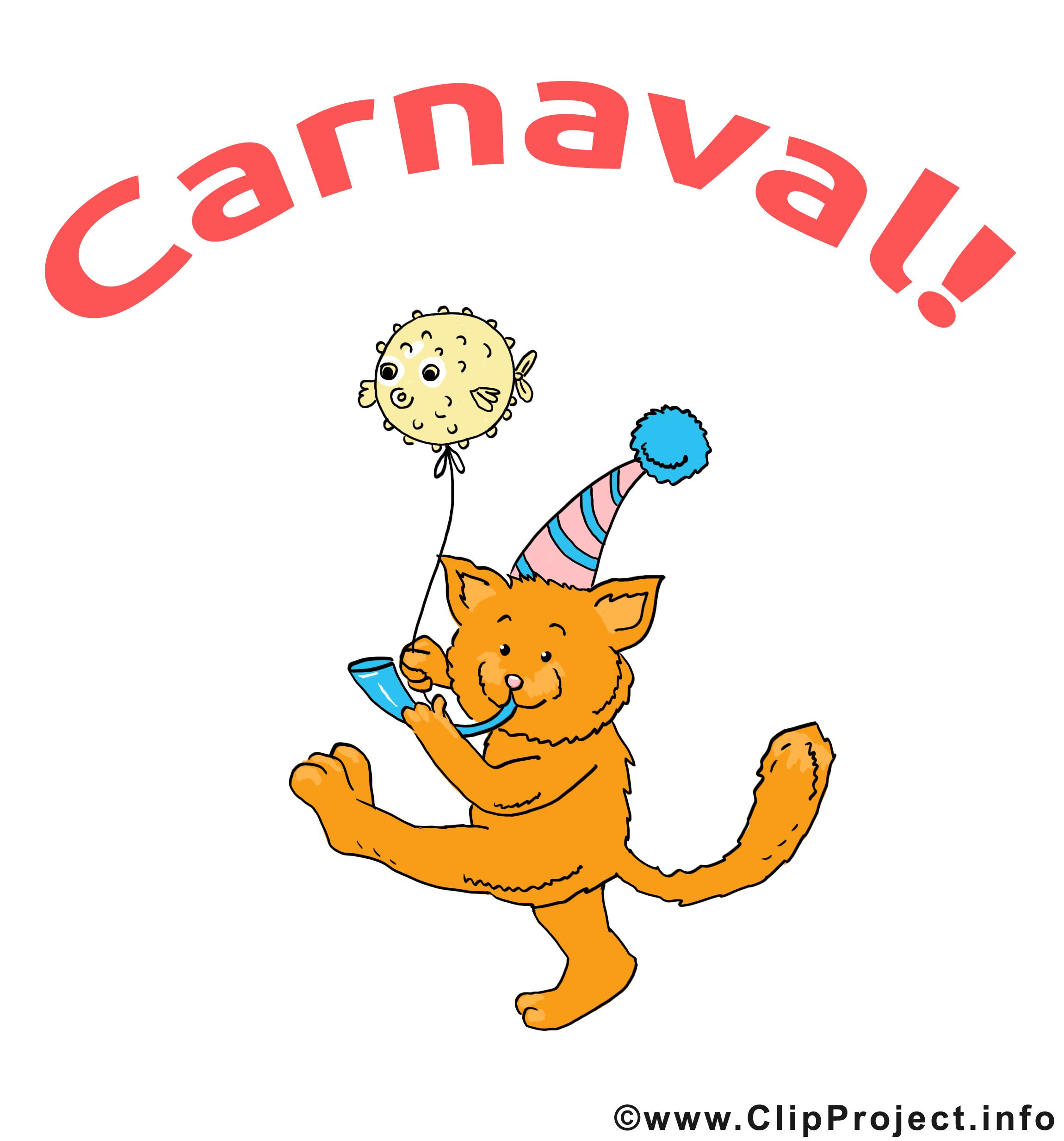 Chat dessin gratuit – Carnaval image