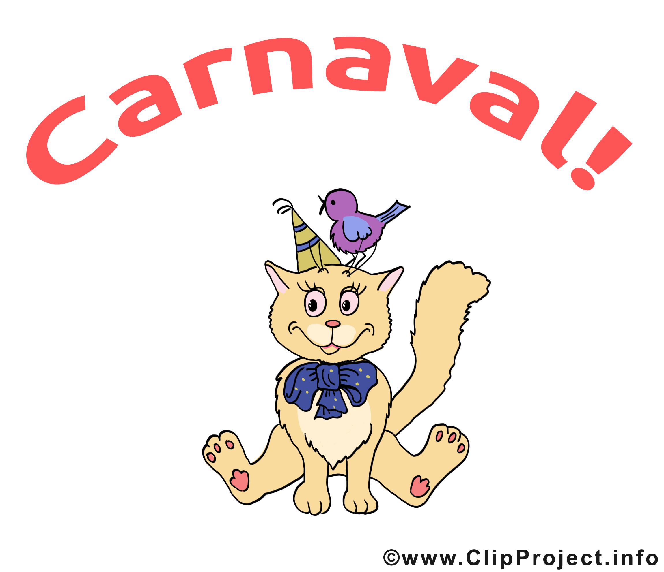 Chat image gratuite – Carnaval cliparts