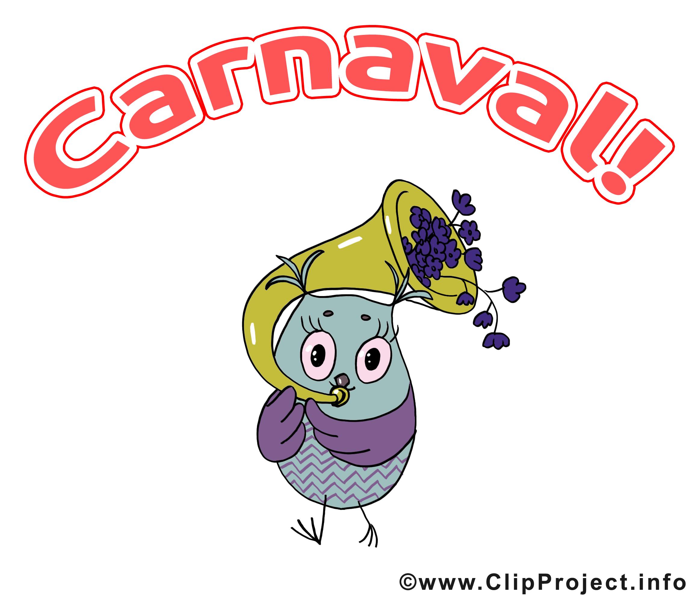 Hibou dessin – Carnaval cliparts à télécharger