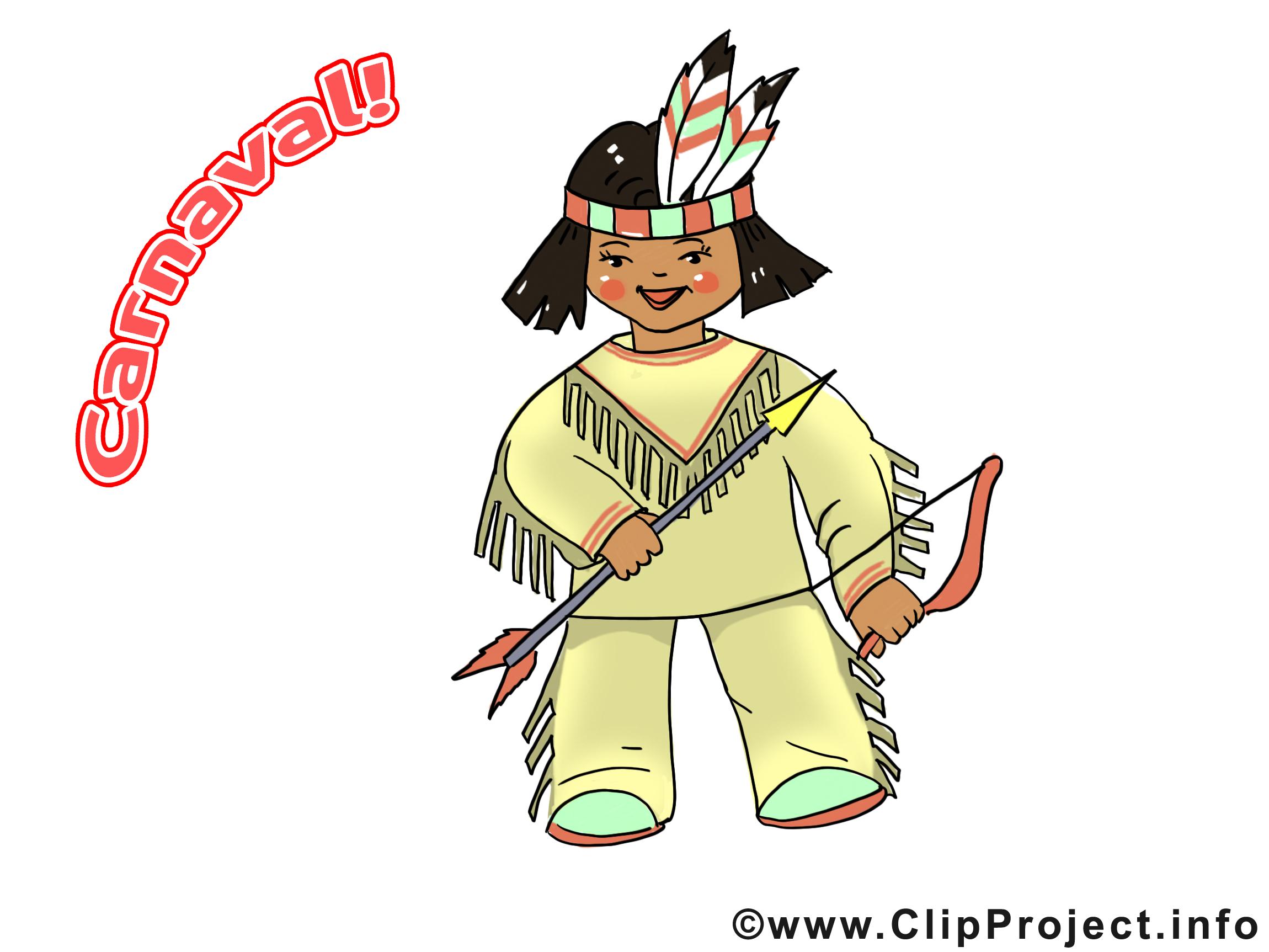 Indien dessin – Carnaval clip arts gratuits