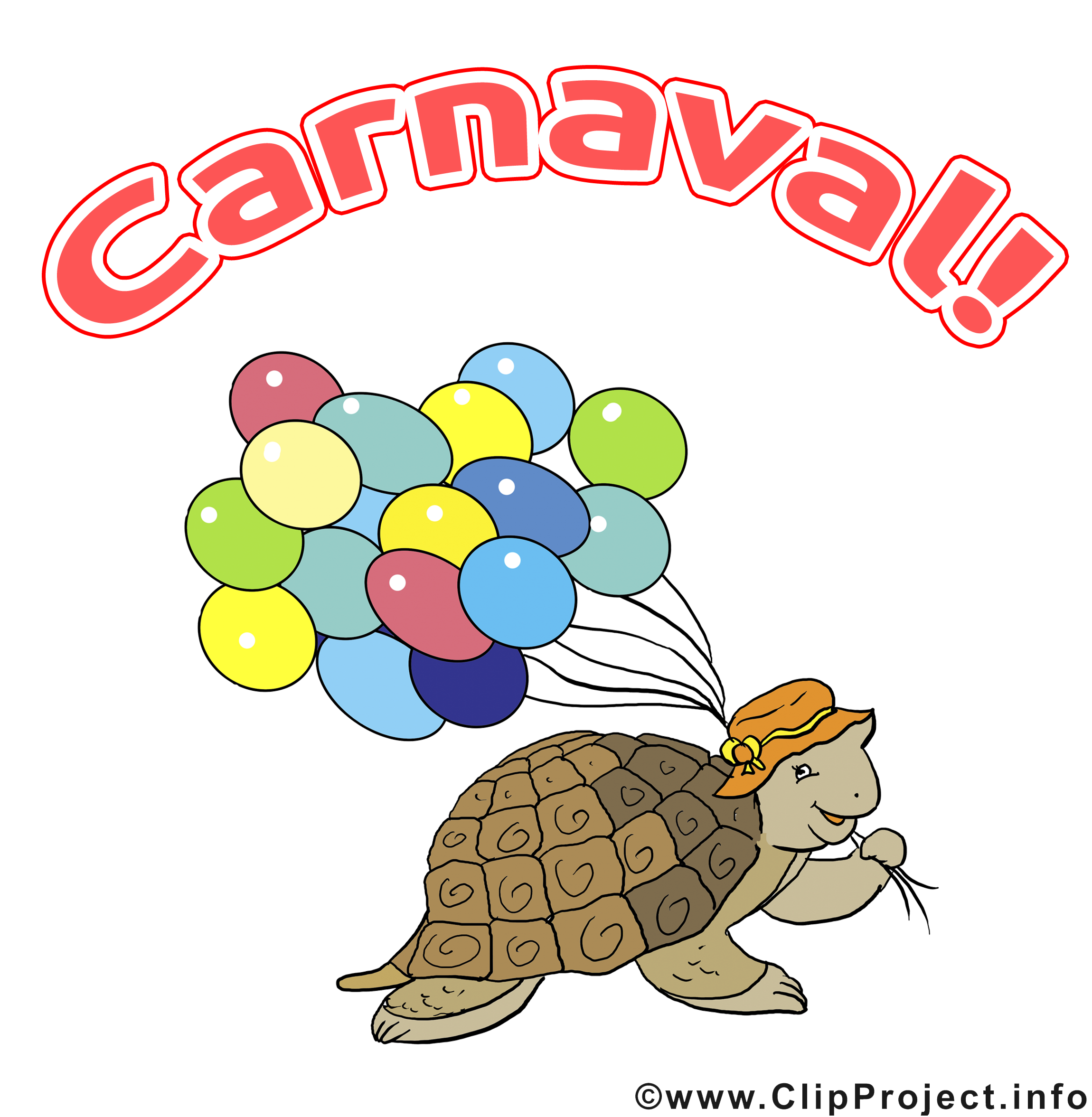 Tortue ballons images – Carnaval dessins gratuits