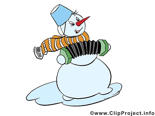 Bonhomme de neige clip art, image, e-card gratuit
