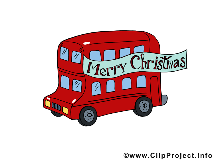 Bus image gratuite - Noël illustration