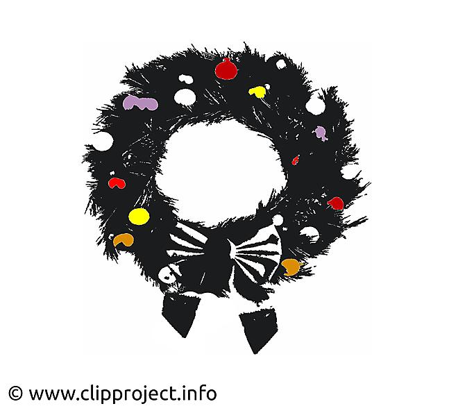 Clip art guirlande de Noël