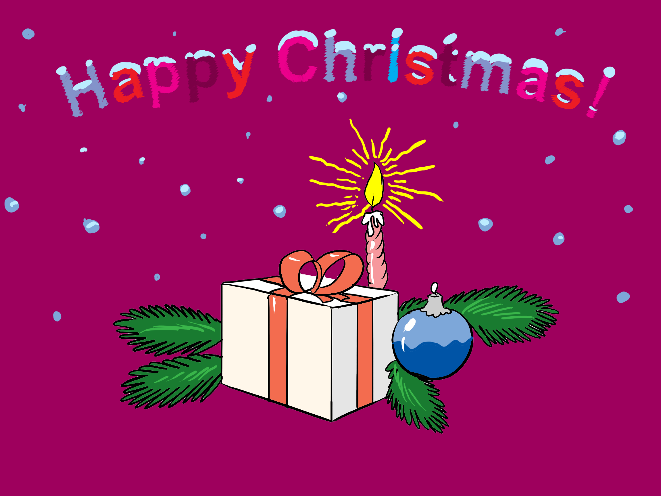 Illustration cadeau – Noël dessins gratuits