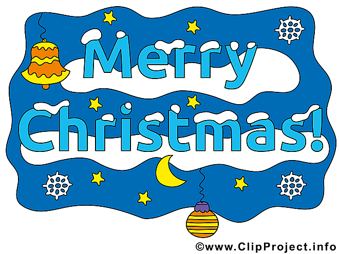Merry Christmas image, card, clipart gratuite