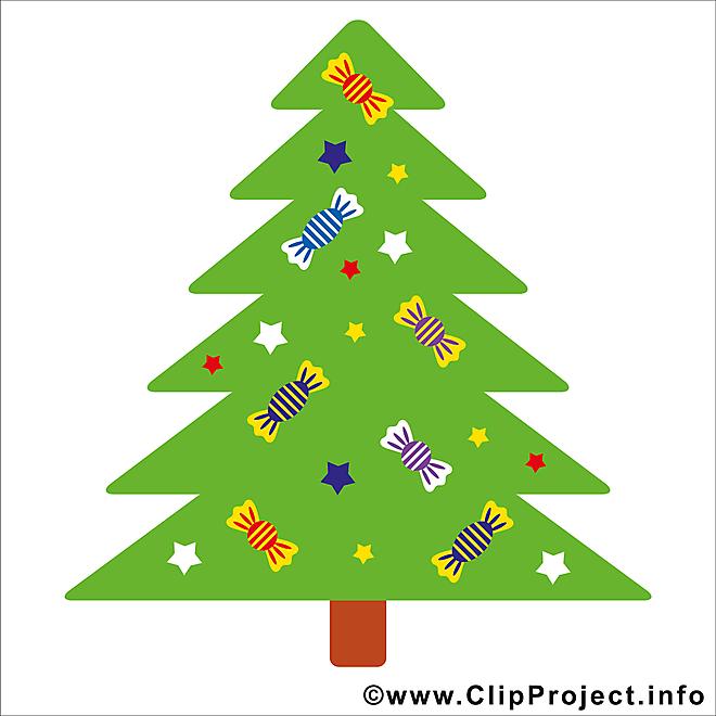 Sapin de Noël clipart, image, card gratuite