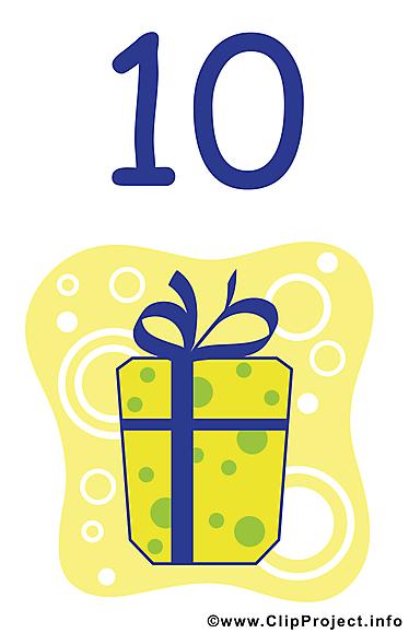 10 ans clip art gratuit – Anniversaire dessin