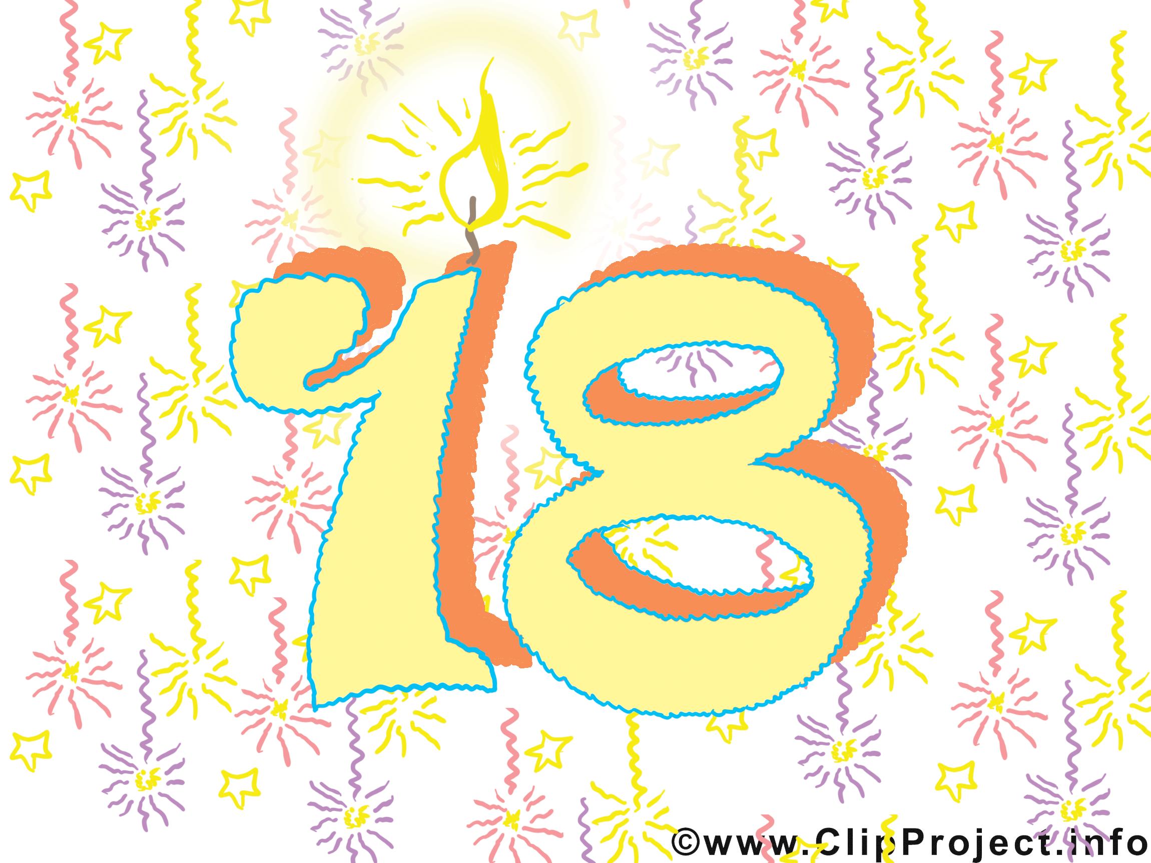 18 Ans Illustration Gratuite Anniversaire Clipart Cartes Virtuelles Anniversaire Dessin Picture Image Graphic Clip Art Telecharger Gratuit