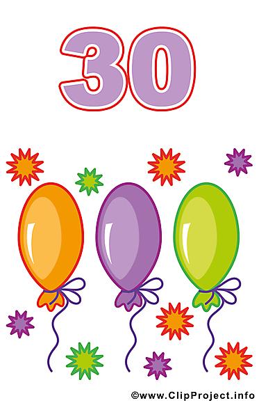 30 ans clipart anniversaire dessins gratuits cartes - Clipart anniversaire gratuit ...