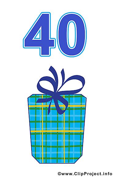 40 ans anniversaire illustration à télécharger gratuite