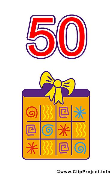 50 ans clip arts gratuits – Anniversaire illustrations