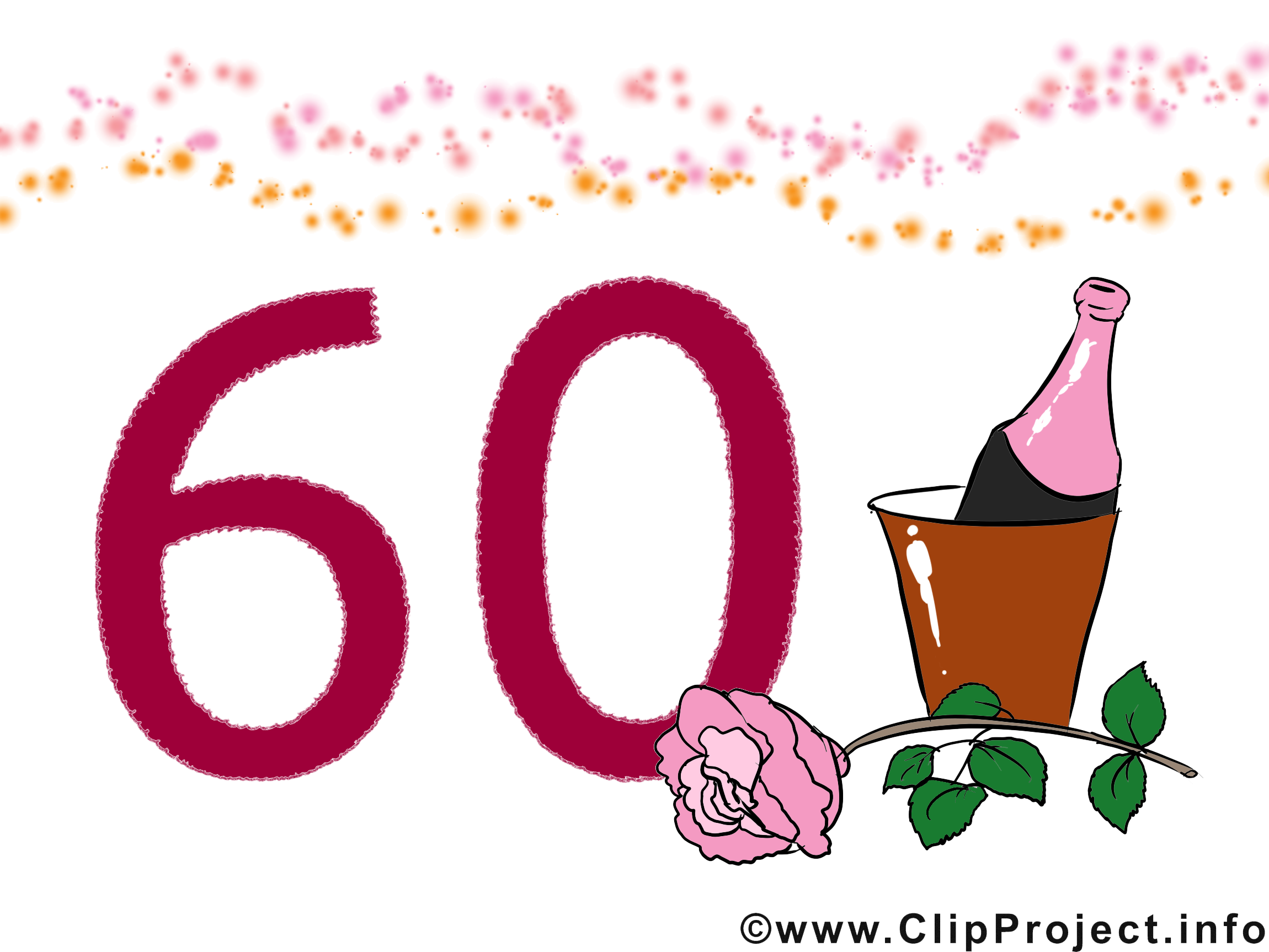 60 ans clip art gratuit anniversaire dessin cartes - Dessin pour anniversaire 60 ans ...