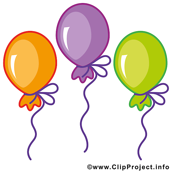 Ballons dessins gratuits anniversaire clipart cartes - Dessin de ballon ...