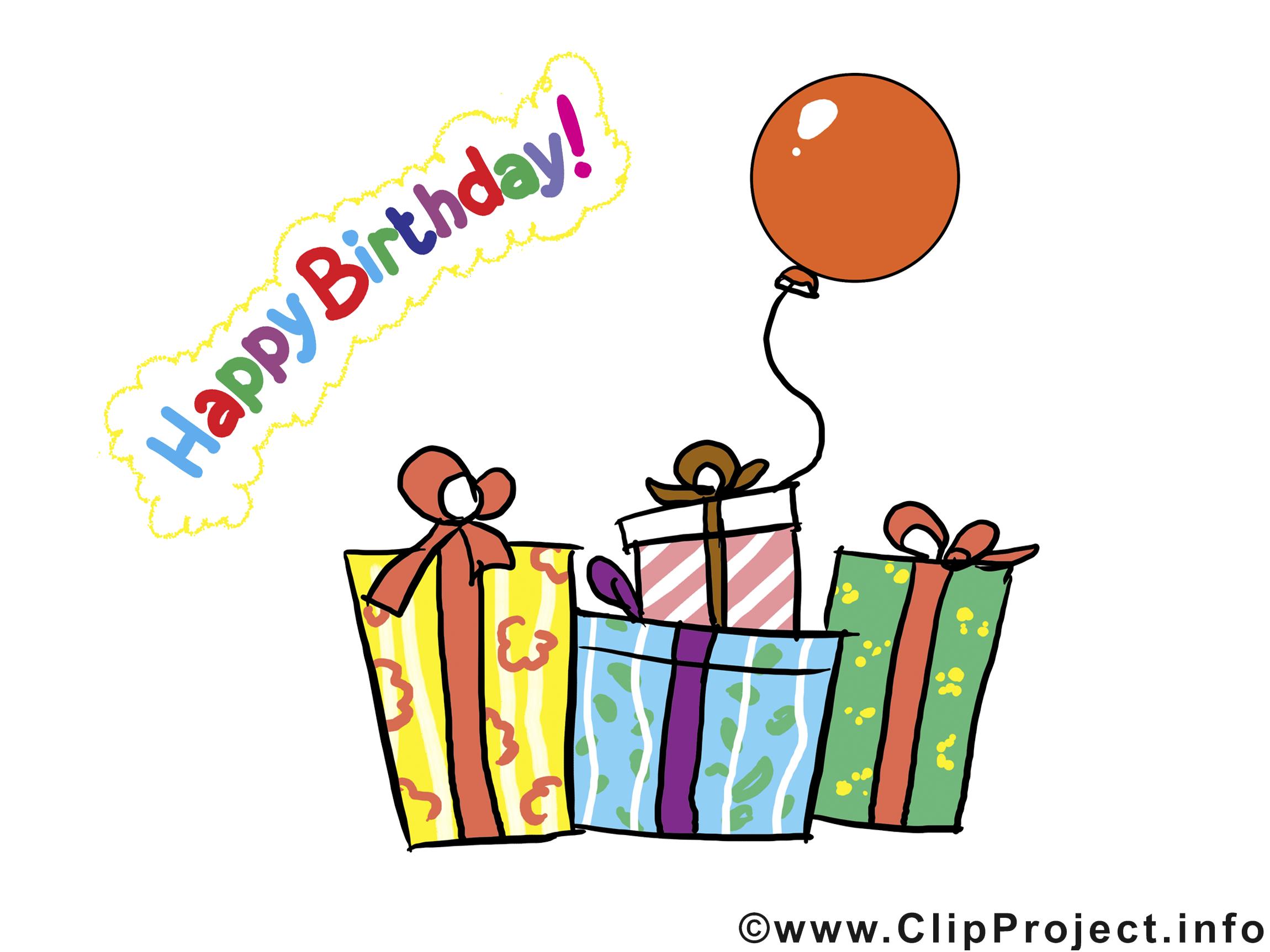 Cadeaux clip art gratuit anniversaire dessin cartes - Dessin cadeau anniversaire ...