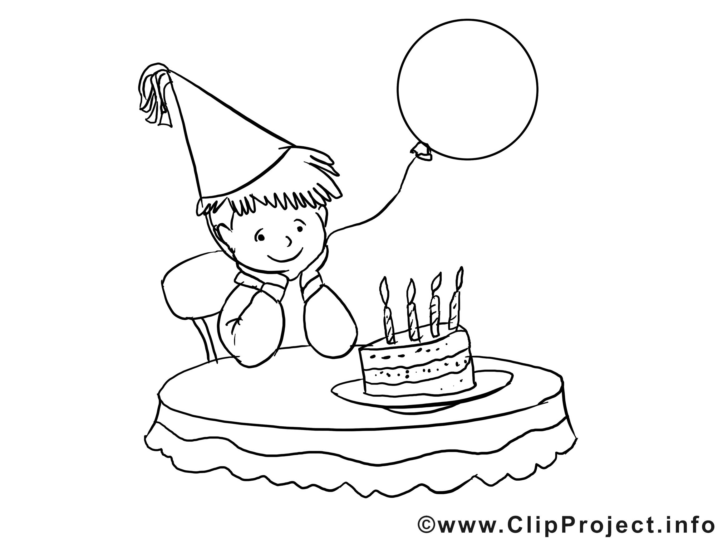 Clip art gratuit à imprimer garçon – Anniversaire dessin