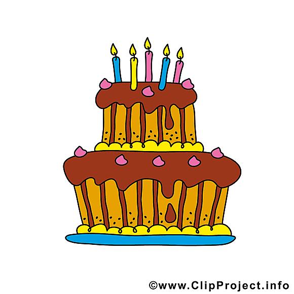 Dessins gratuits gâteau – Anniversaire clipart