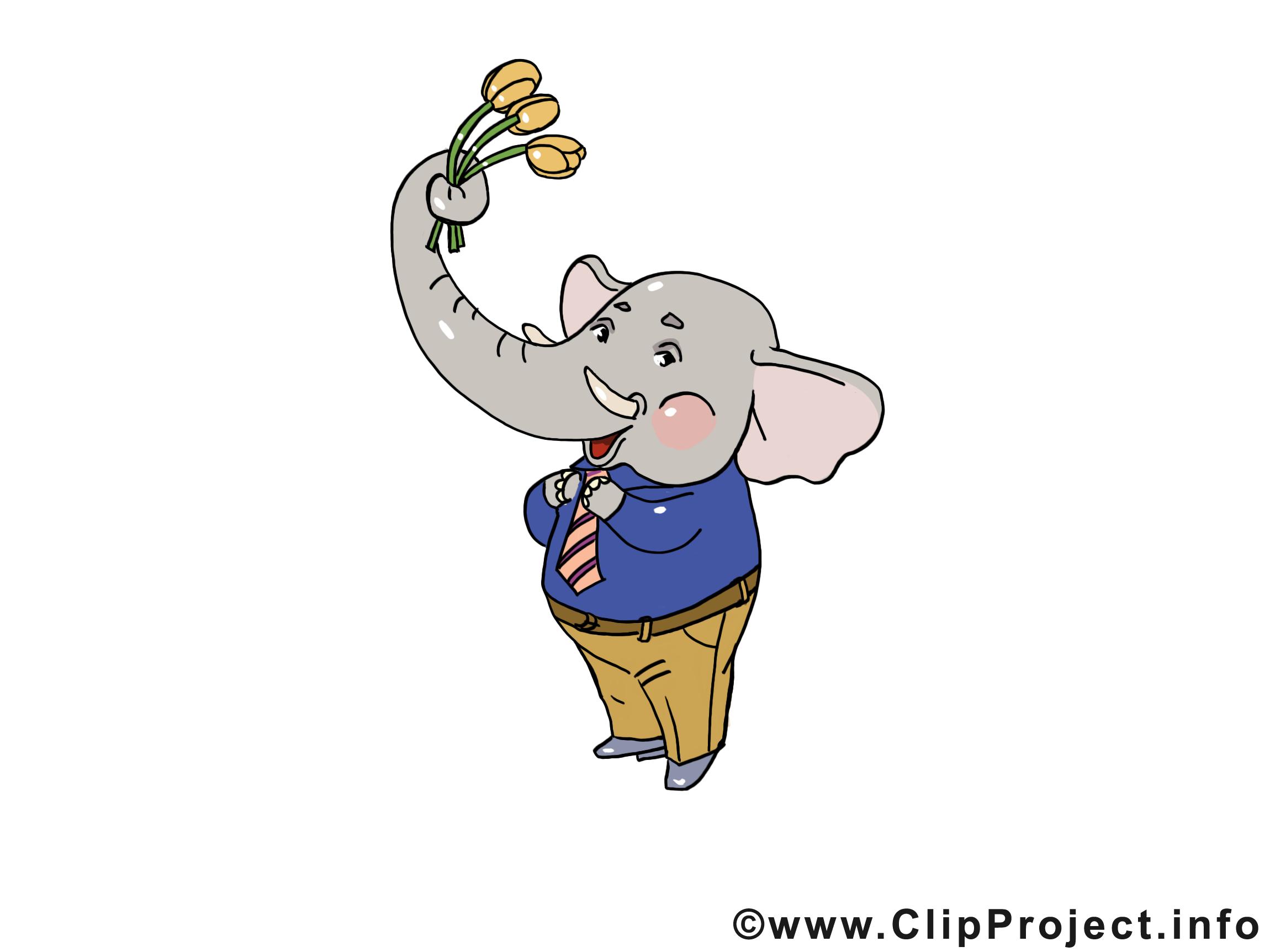 Éléphant dessins gratuits – Anniversaire clipart