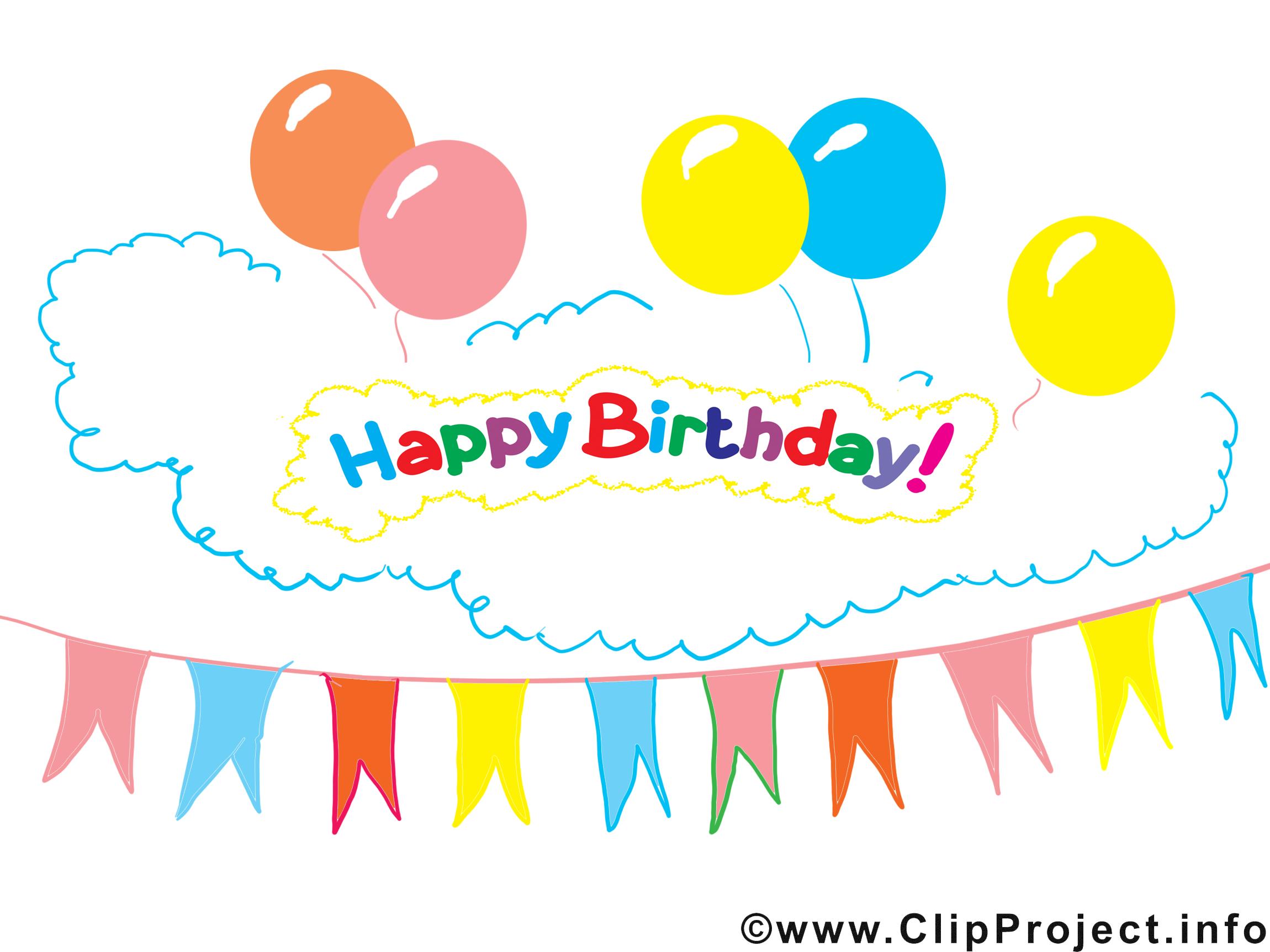 Fete Clipart Gratuit Anniversaire Images Cartes Virtuelles Anniversaire Dessin Picture Image Graphic Clip Art Telecharger Gratuit