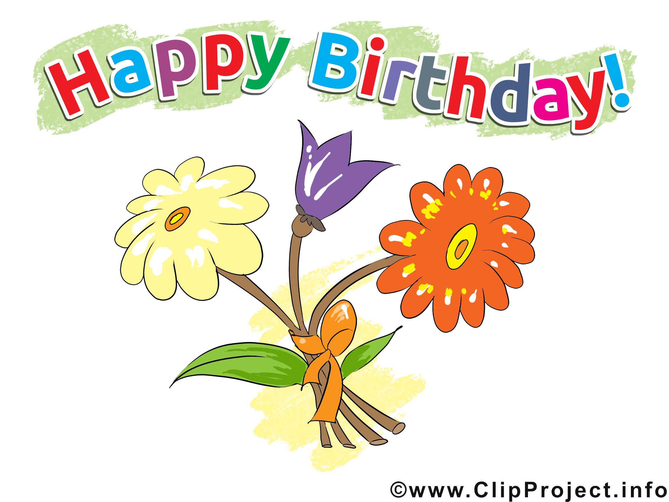 Fleurs image anniversaire images cliparts cartes - Clipart anniversaire gratuit ...