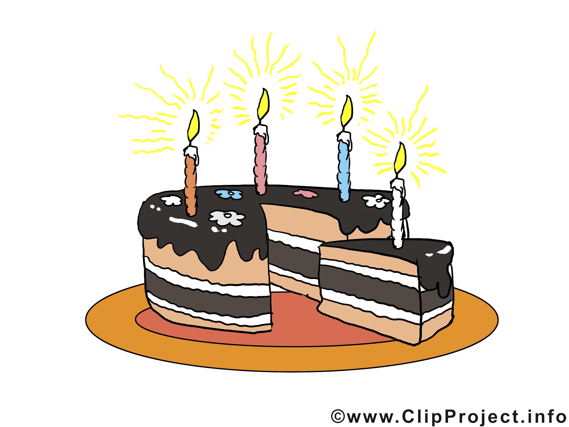 Morceau gâteau clipart – Anniversaire dessins