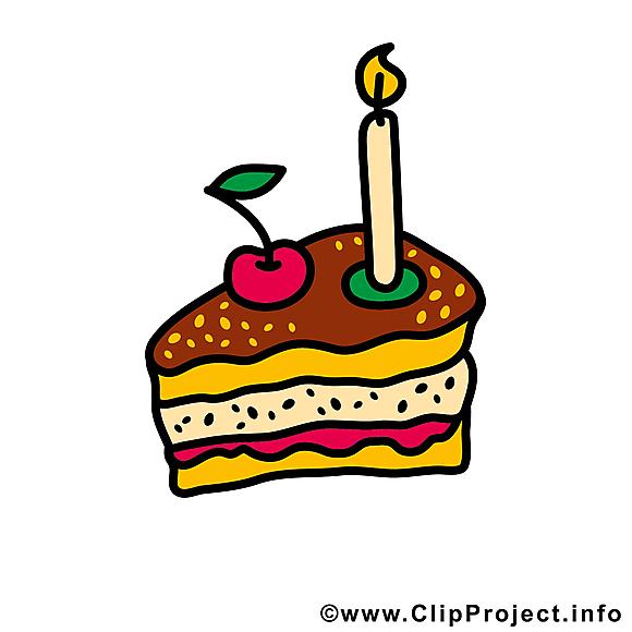 Morceau gâteau dessins – Anniversaire clipart