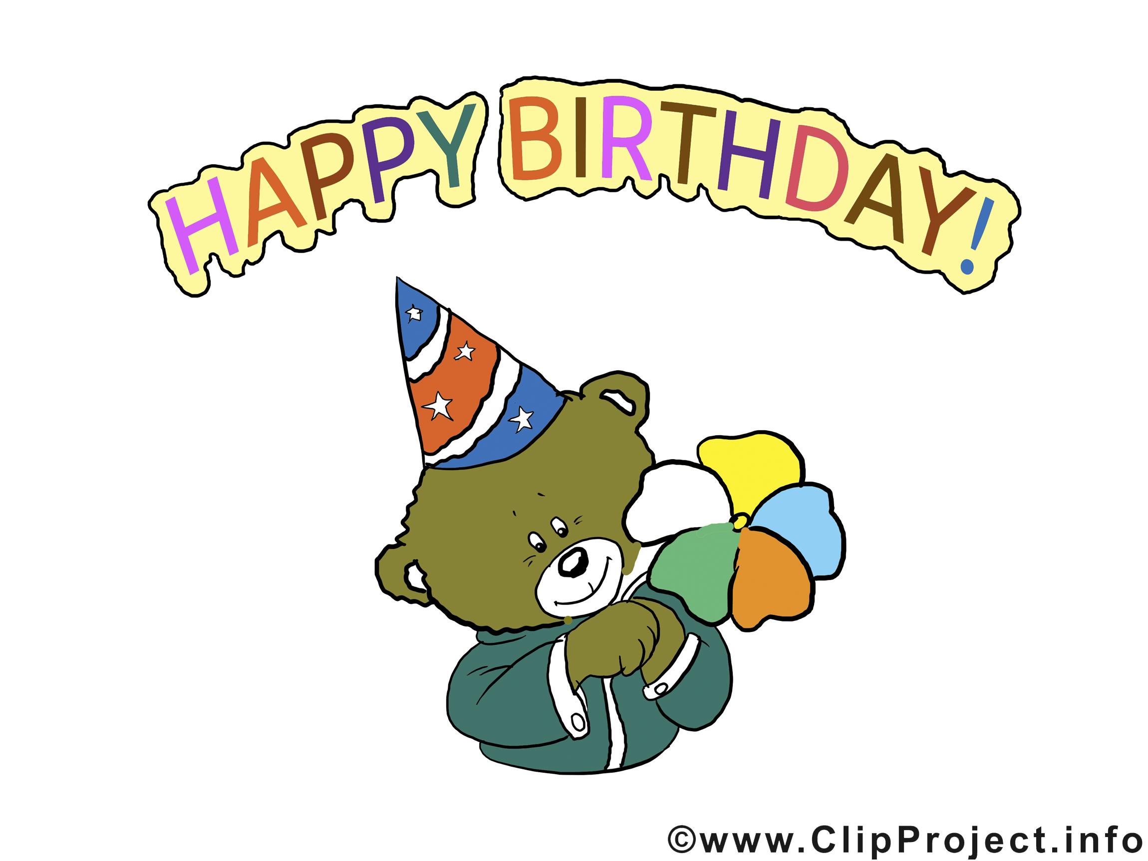 Ours anniversaire image à télécharger gratuite