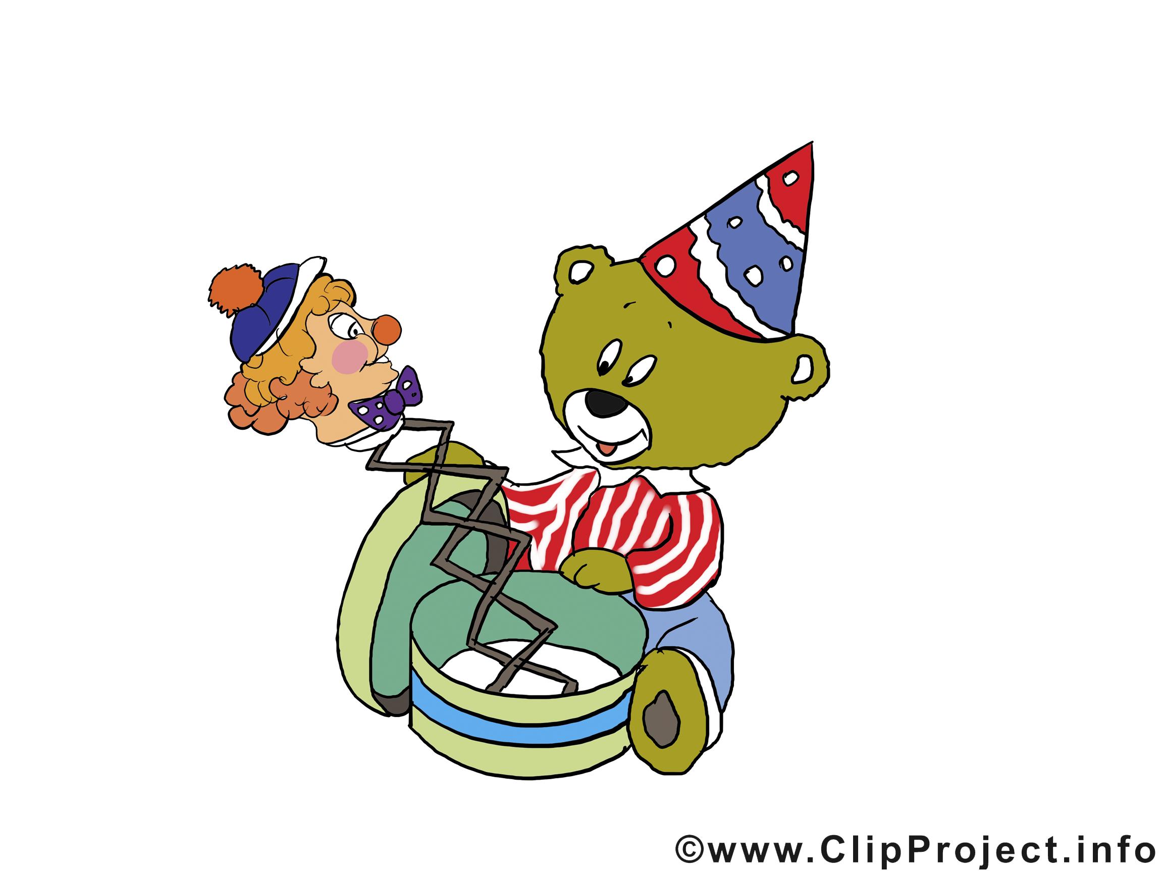 Ours clip arts gratuits – Anniversaire illustrations