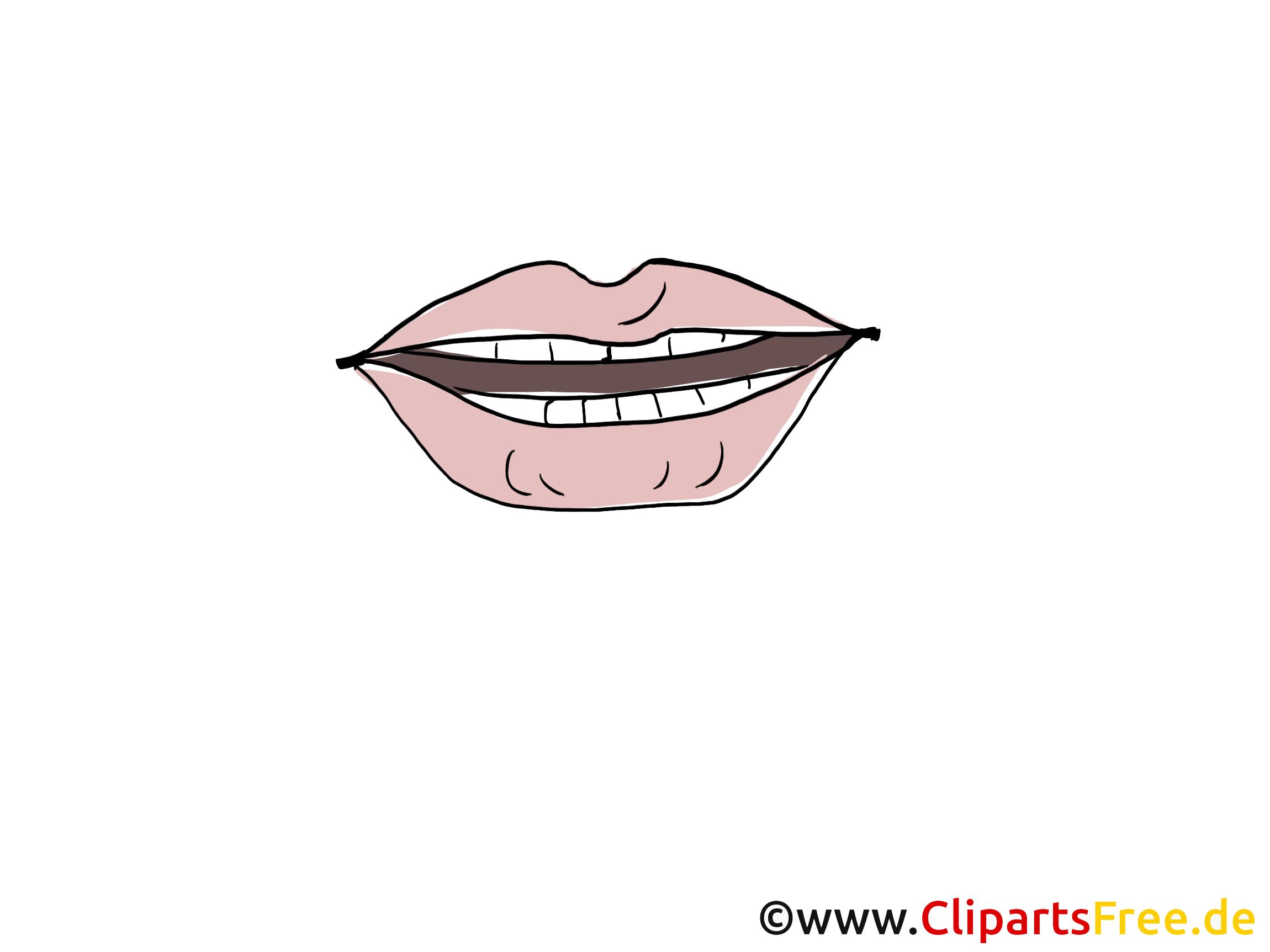 Bouche clip arts gratuits – Dessin illustrations