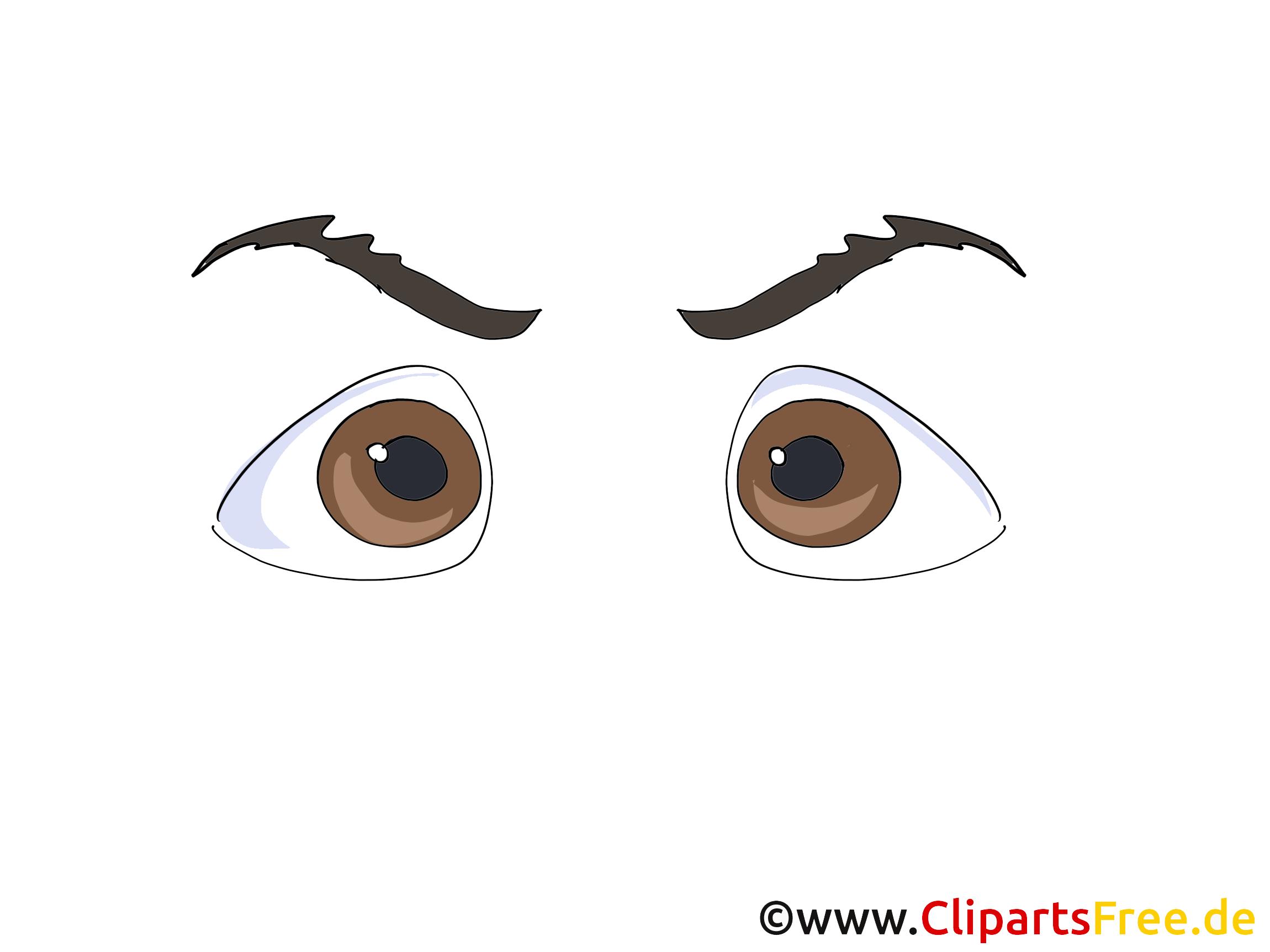 Brunes yeux image – Dessin images cliparts