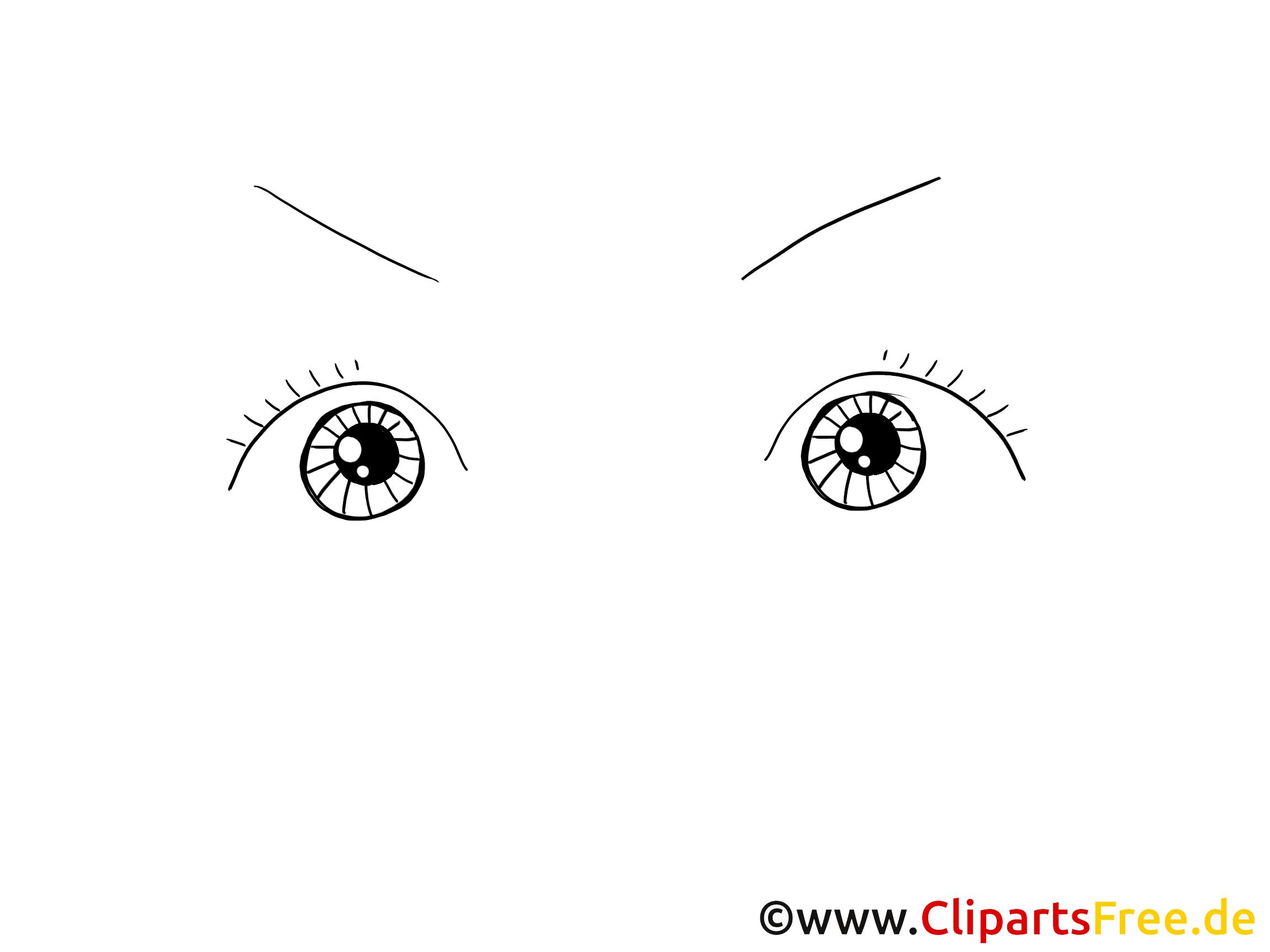 Clip art gratuit yeux – Dessin images