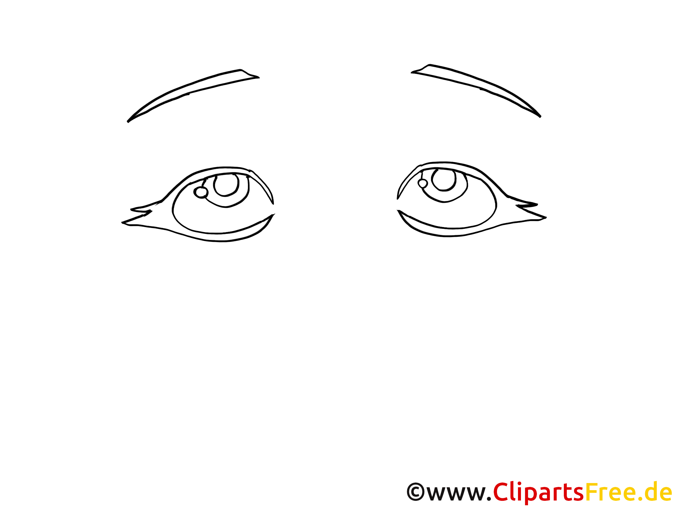Coloriage yeux image – Dessin images cliparts
