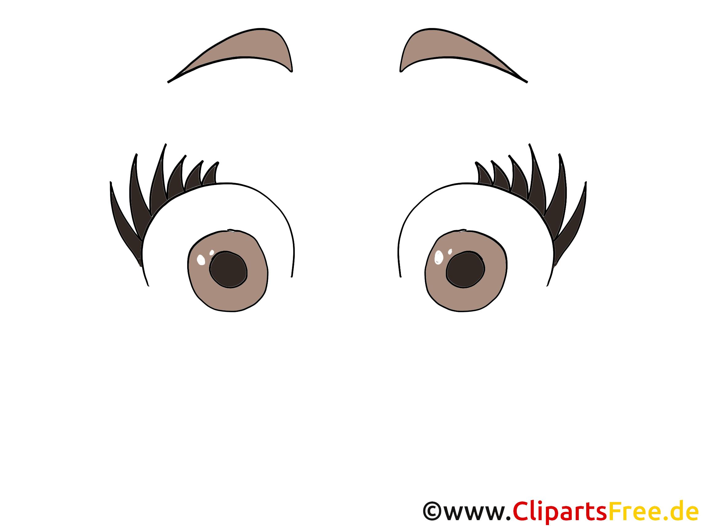 Étonné regard image gratuite – Dessin illustration