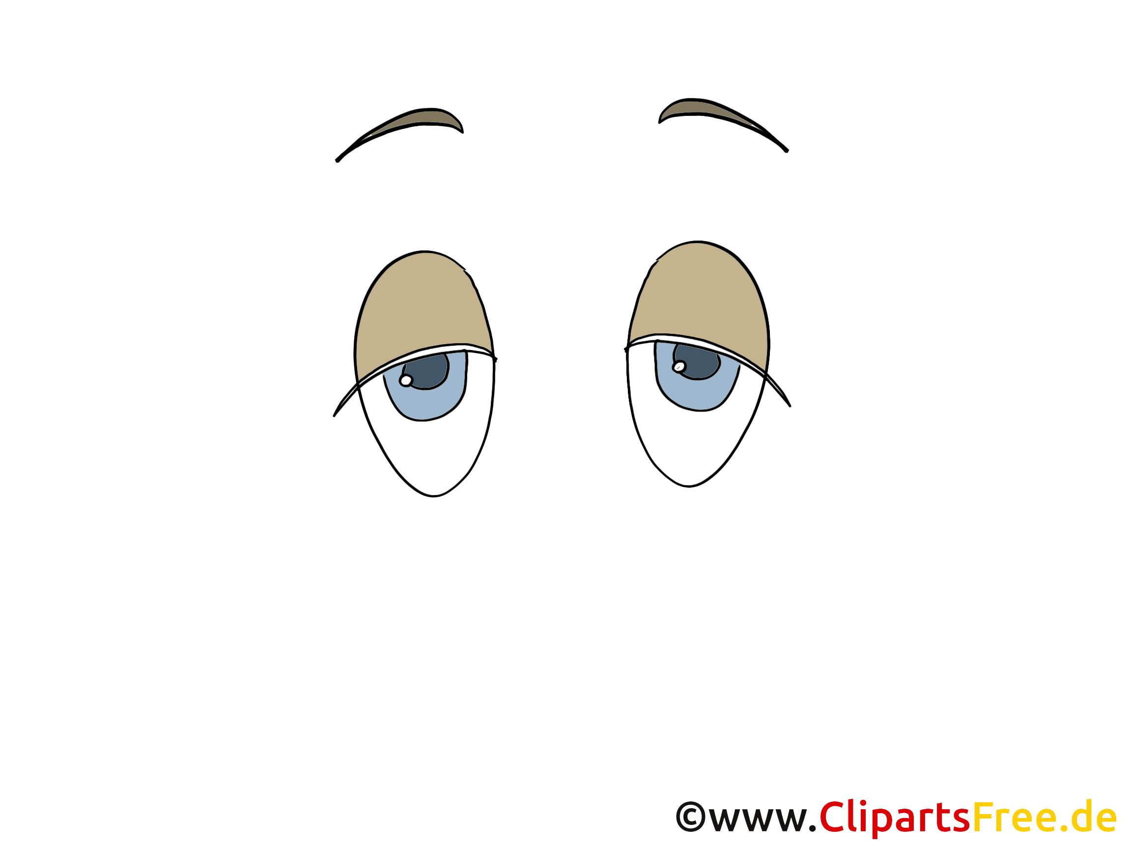 Fatigué yeux clipart – Dessin dessins gratuits