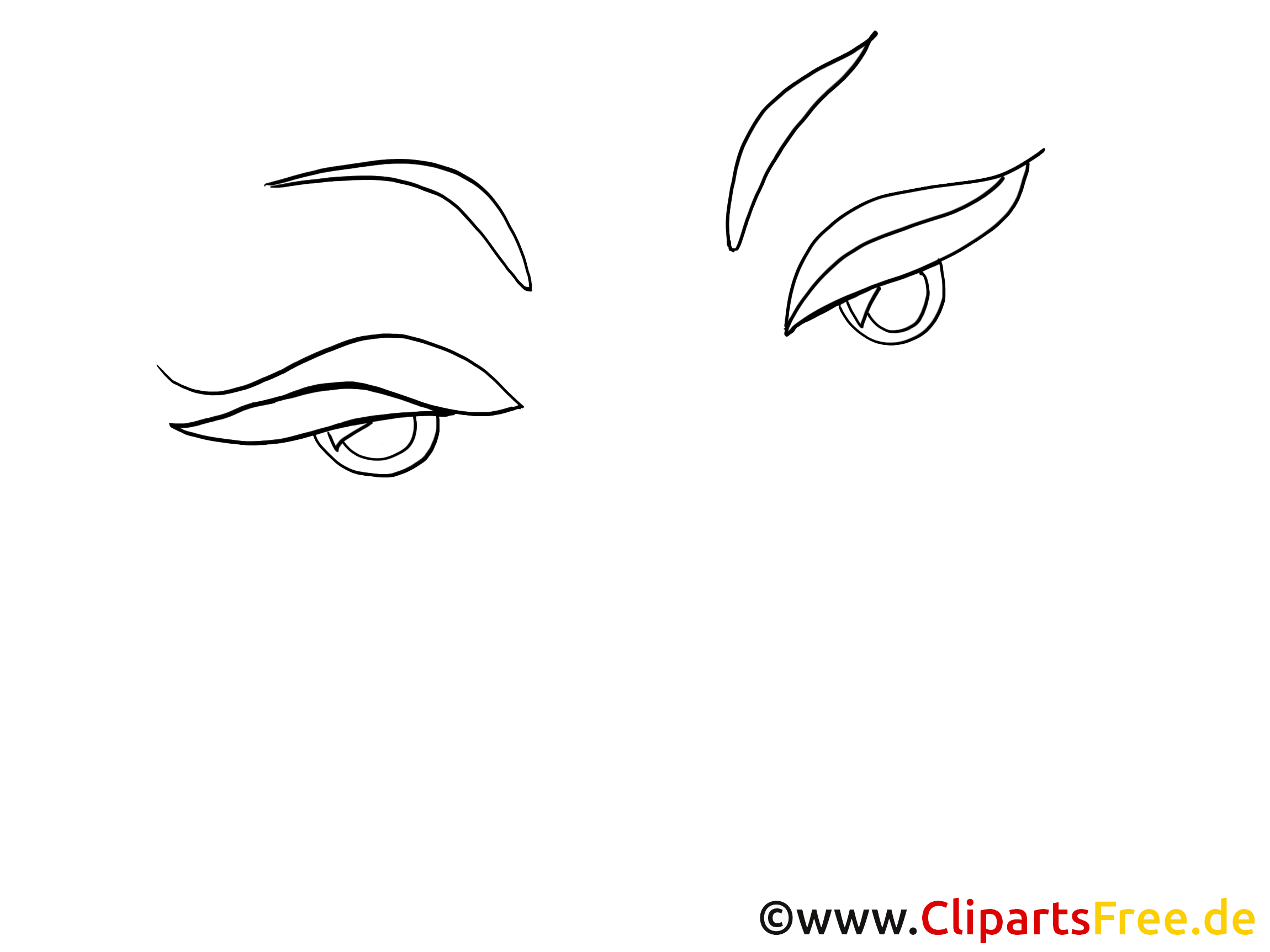 Femme yeux dessins – Dessin images