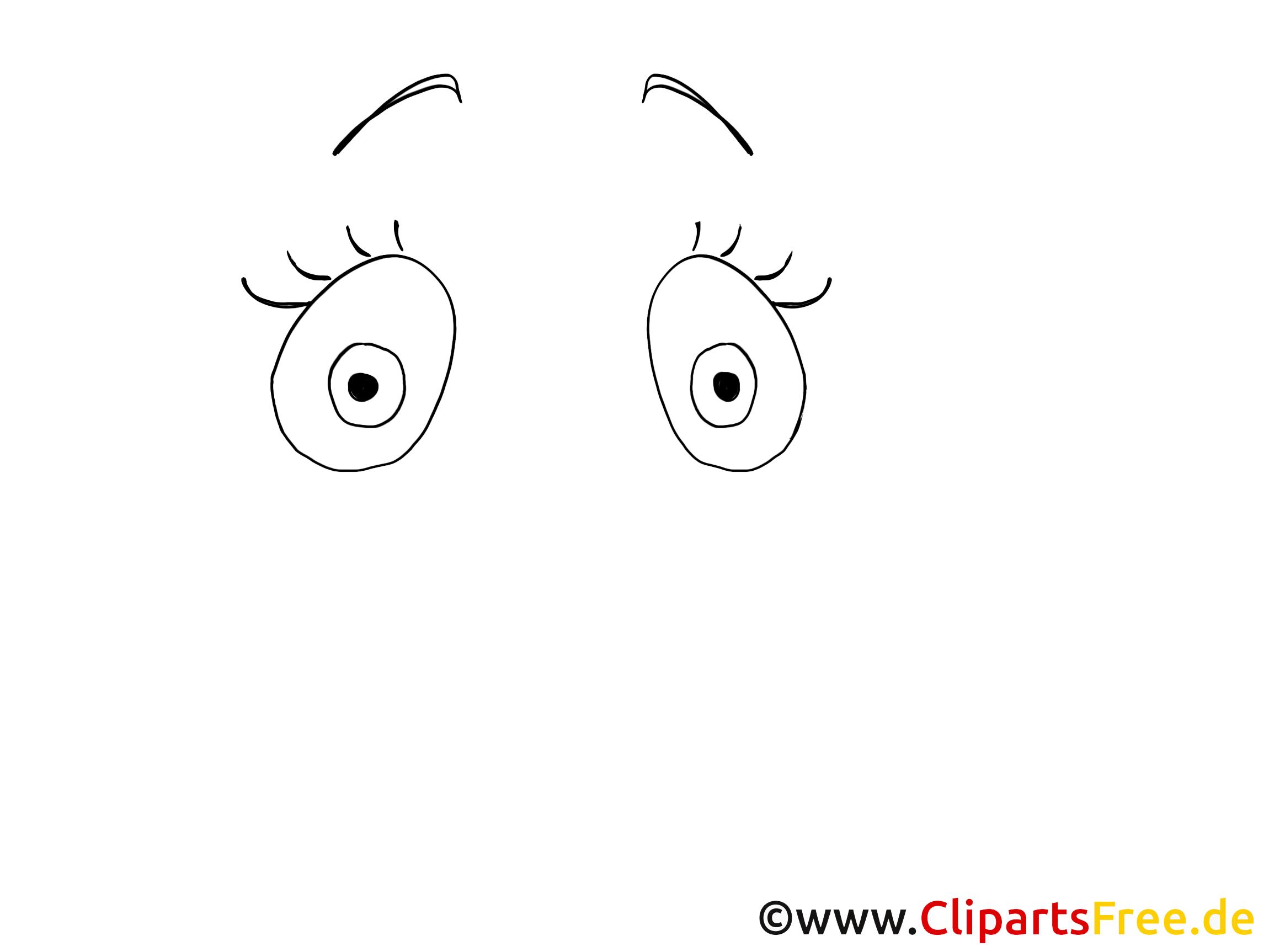 Grands yeux illustration à colorier – Dessin images