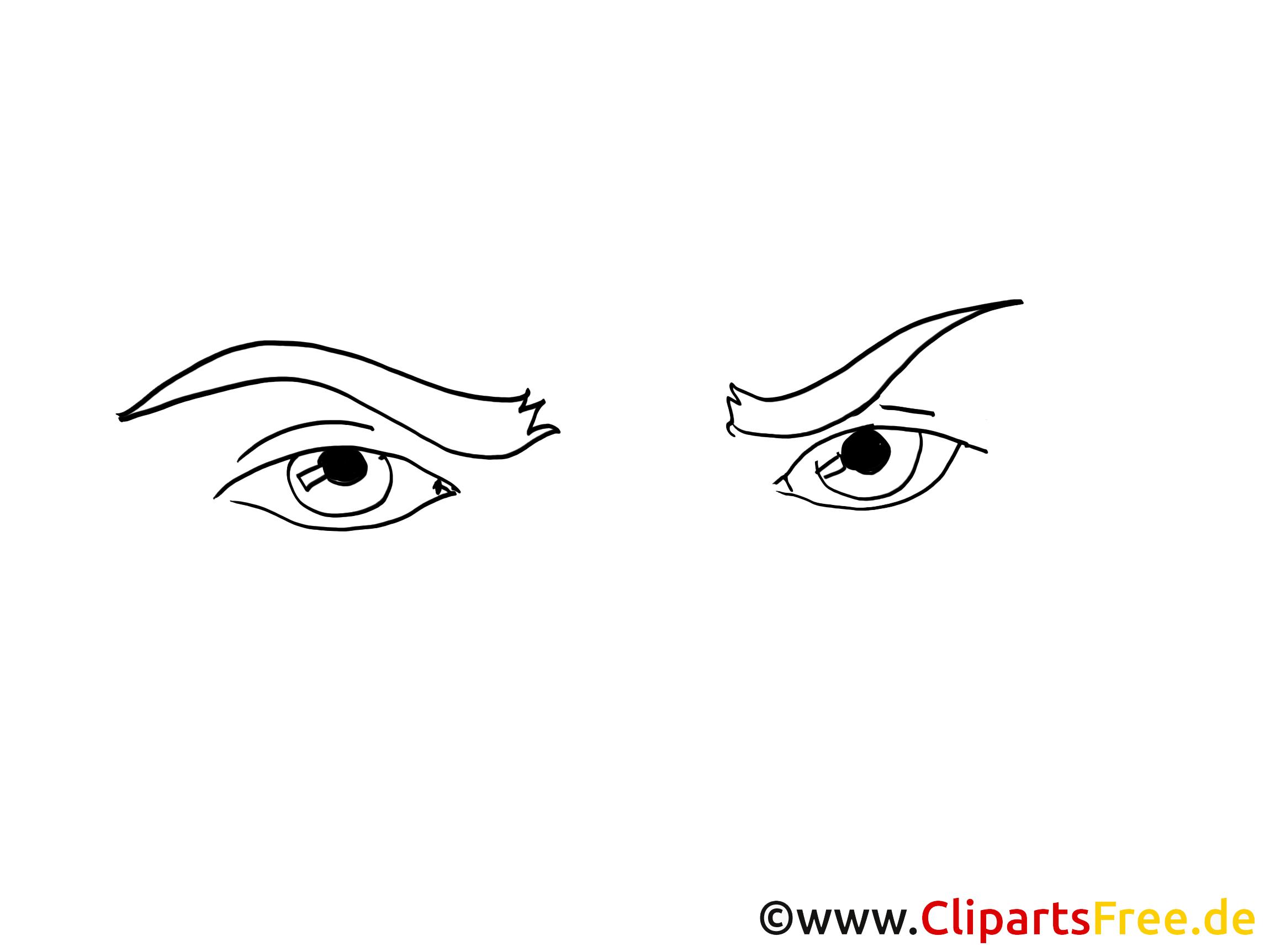 Image yeux à colorier – Dessin images cliparts