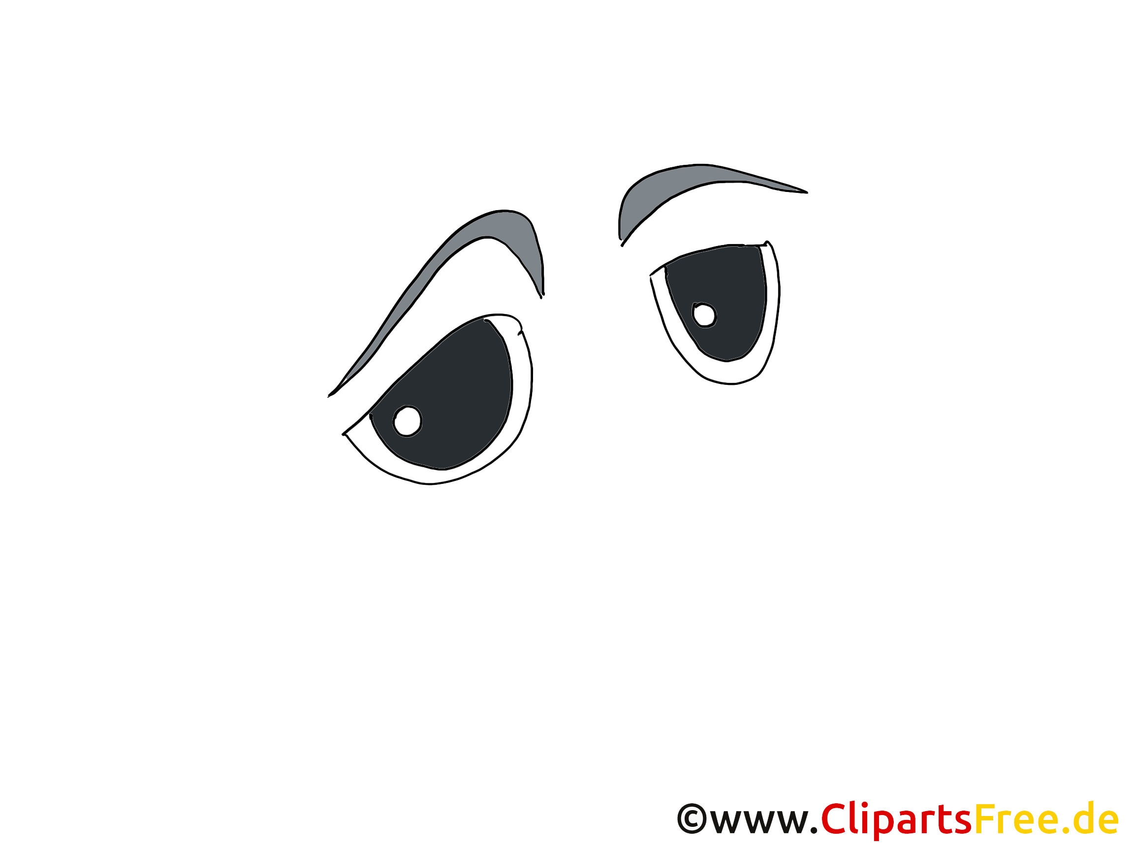 Noir yeux clip art gratuit – Dessin dessin
