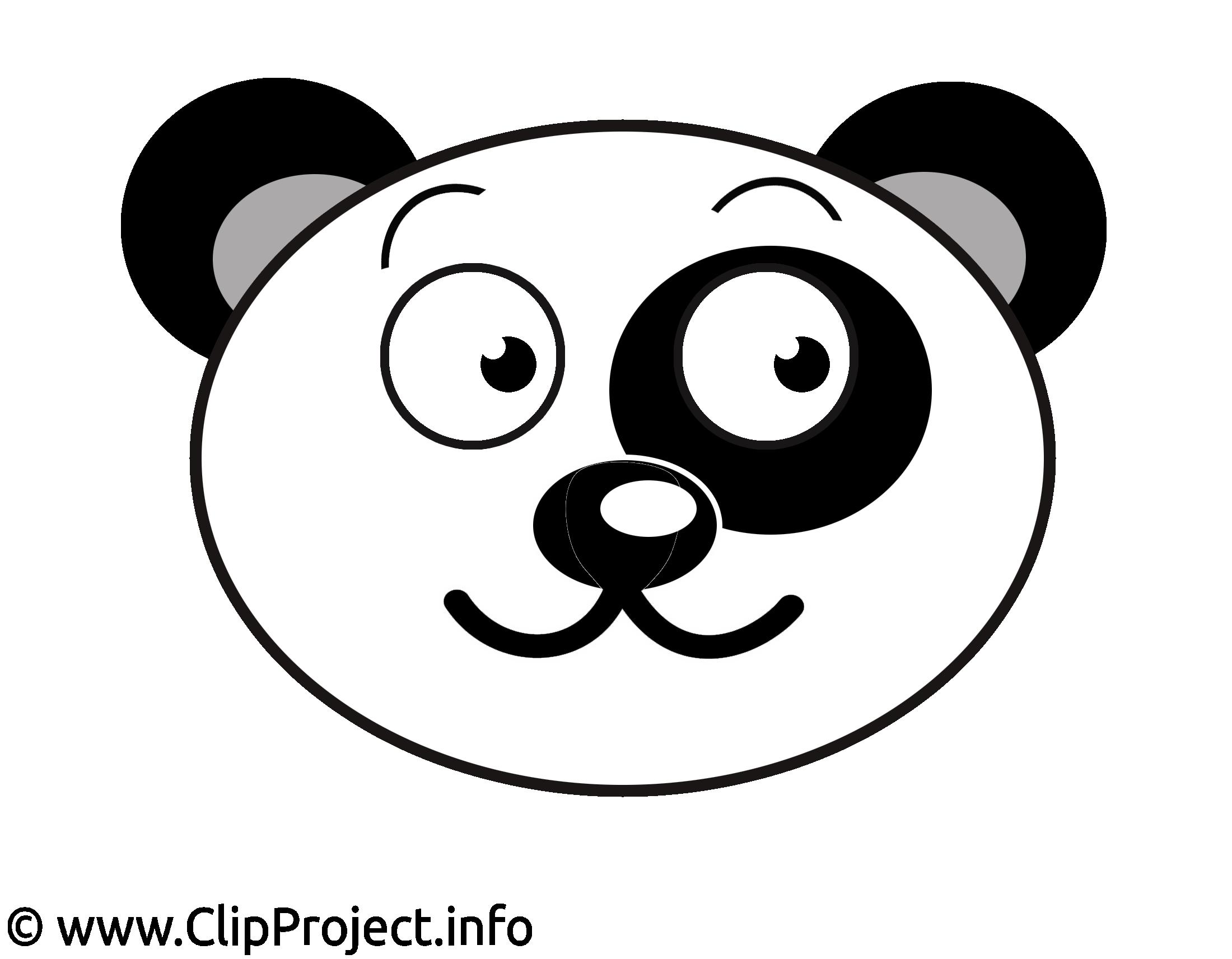 Panda illustration gratuite – Dessin clipart