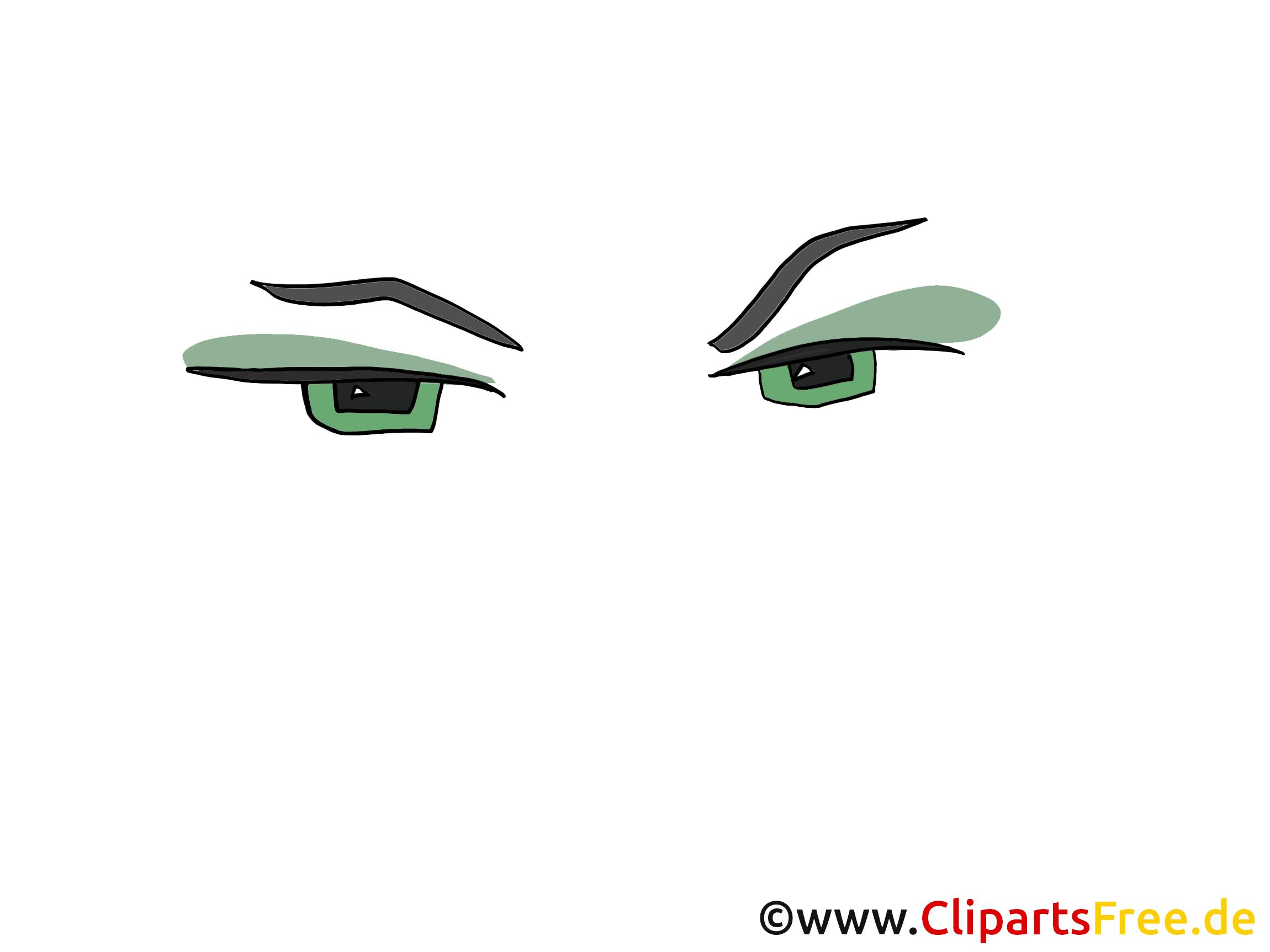 Verts yeux clip art – Dessin gratuite
