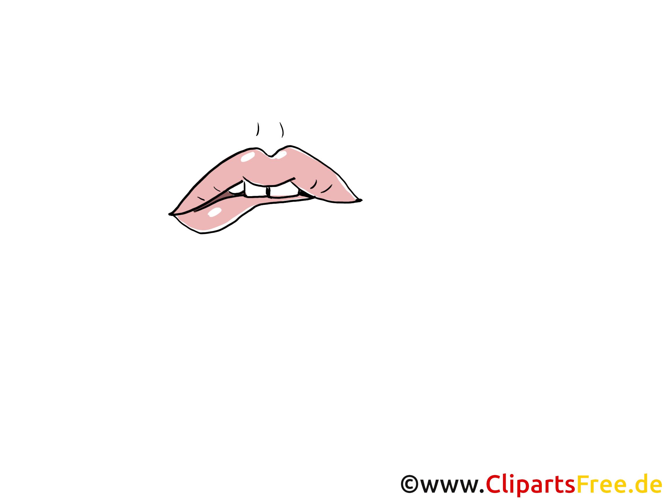 Vexé lèvres dessin illustration à télécharger gratuite