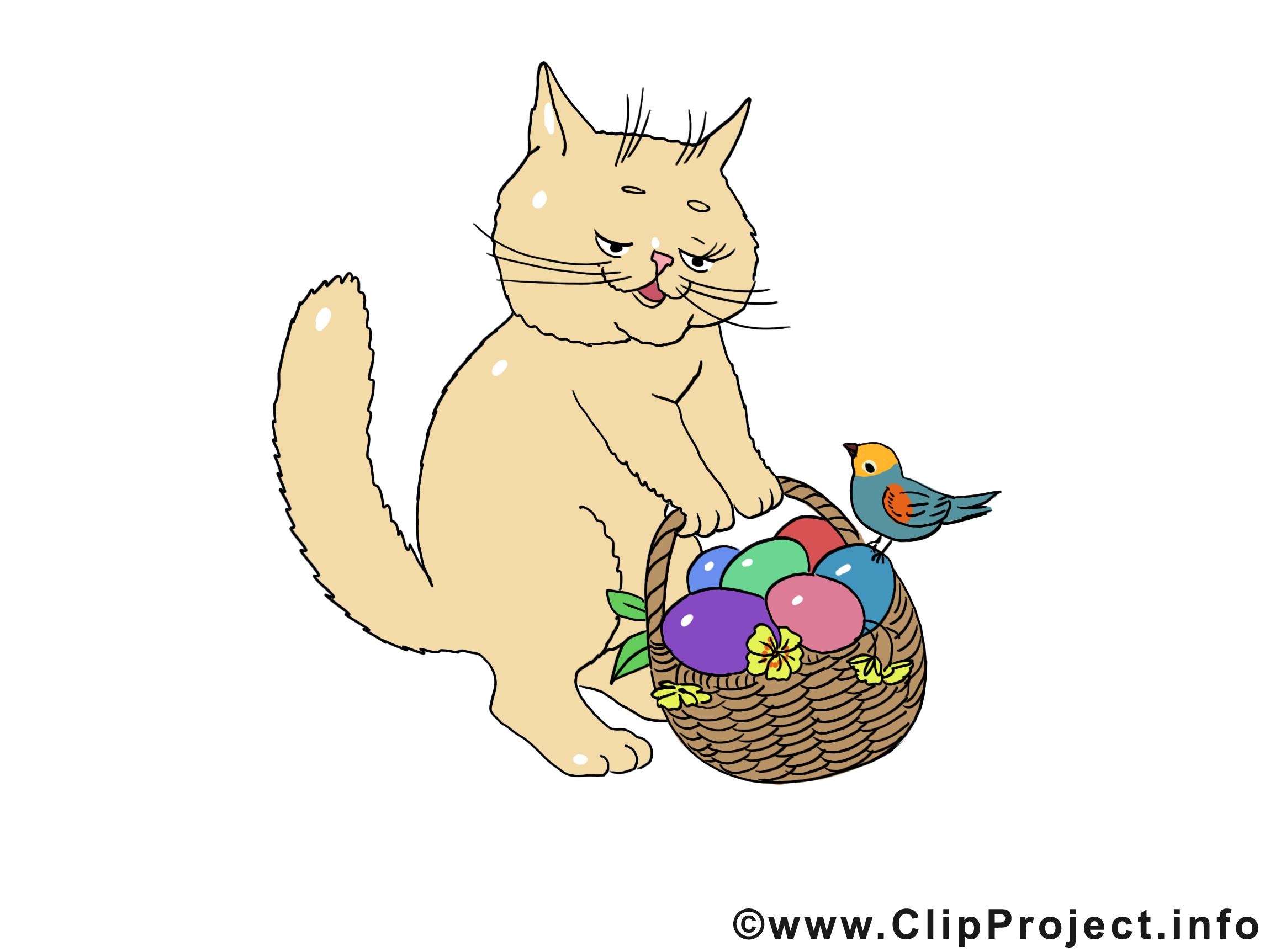 Chat dessin à télécharger - Pâques images