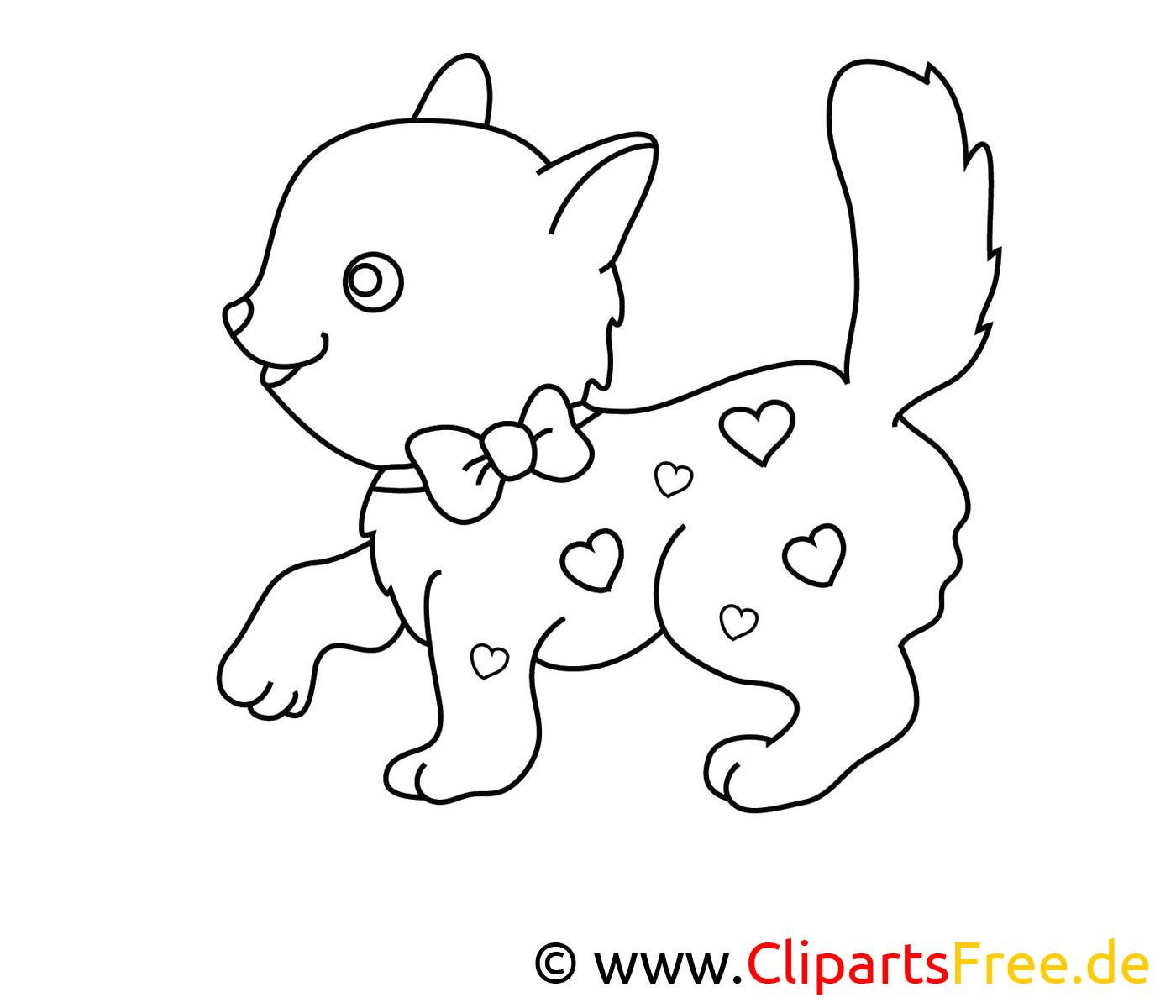 Coloriage chat image à télécharger gratuite