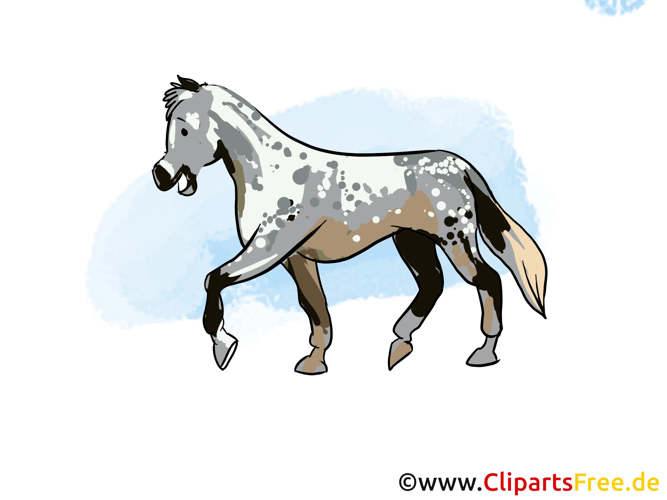 Cavale clip arts gratuits – Cheval illustrations