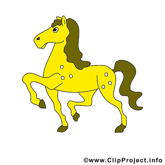 Cheval jaune image à télécharger gratuite