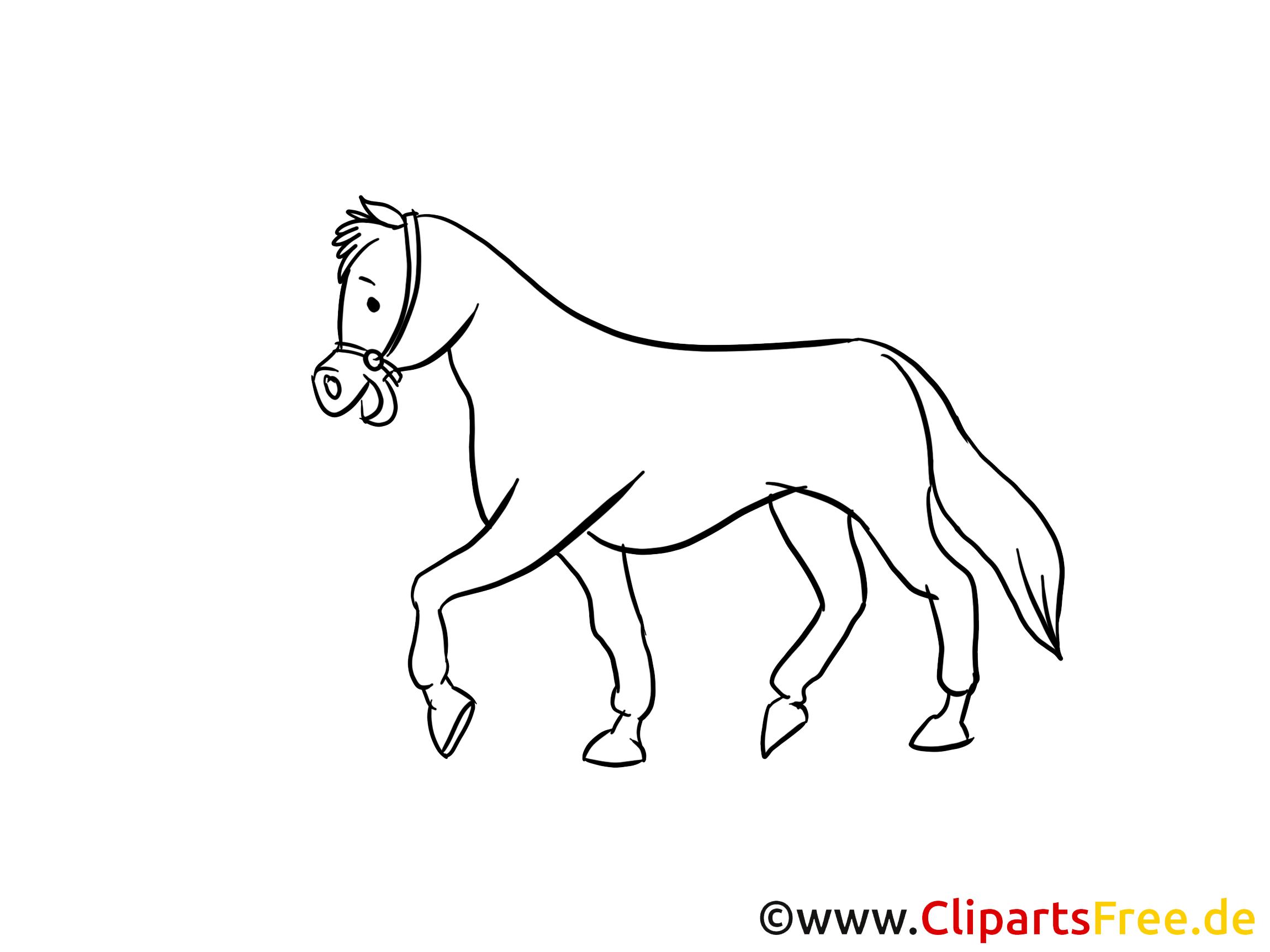 Clipart à imprimer cheval dessins gratuits
