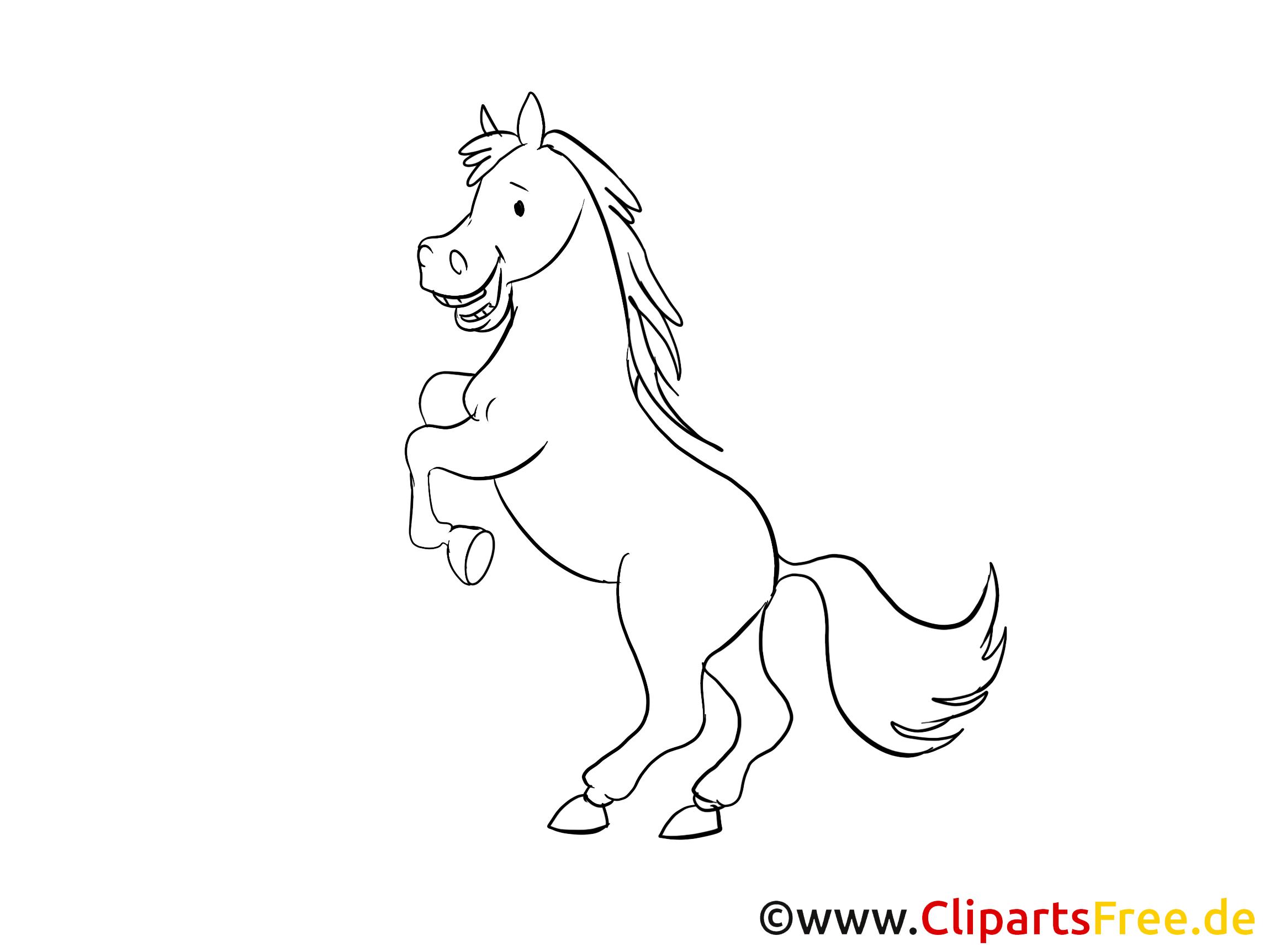 Cliparts gratuis à colorier cheval images