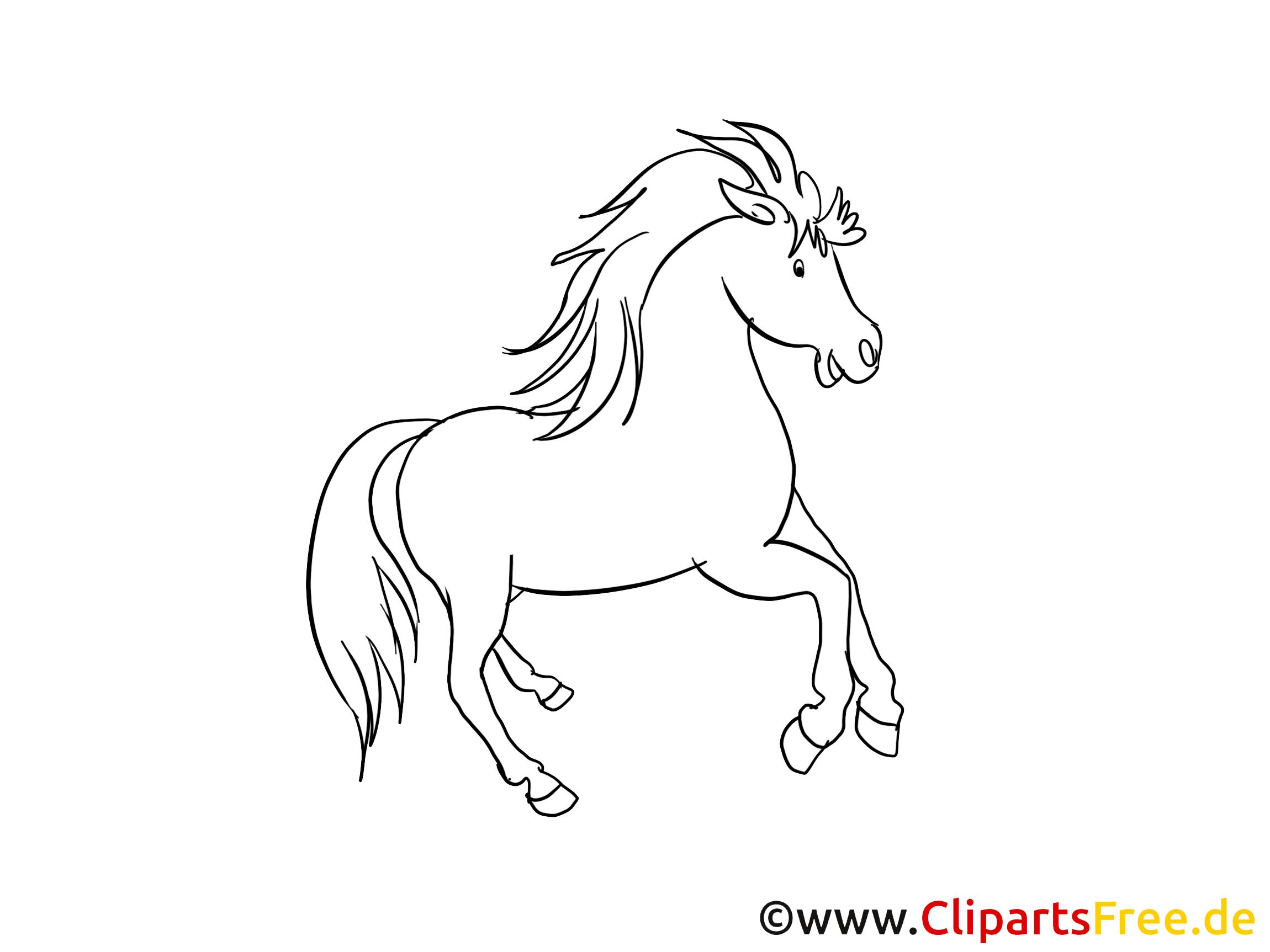 Dessin gratuit à colorier cheval image