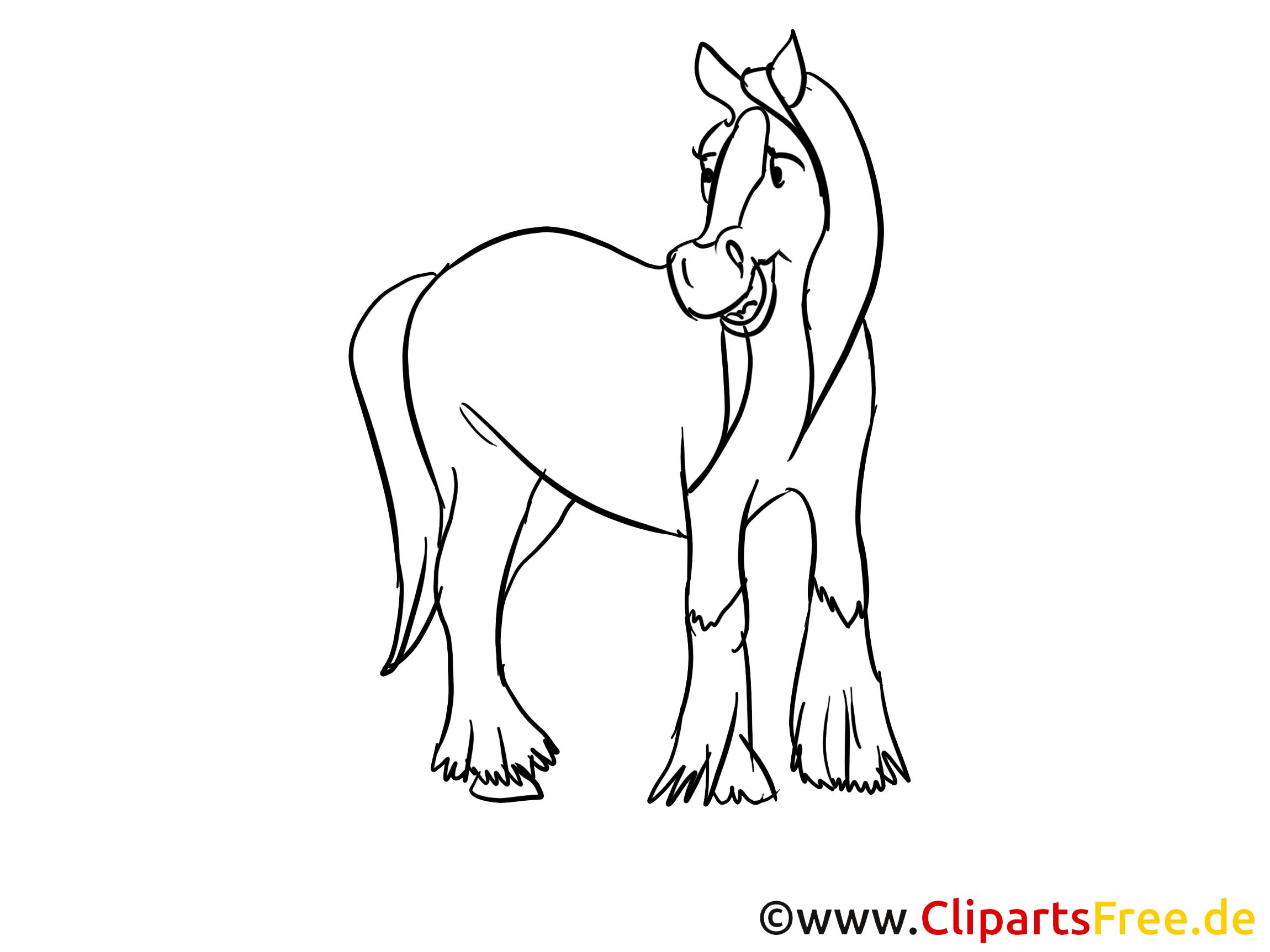 Images gratuites à colorier cheval clipart